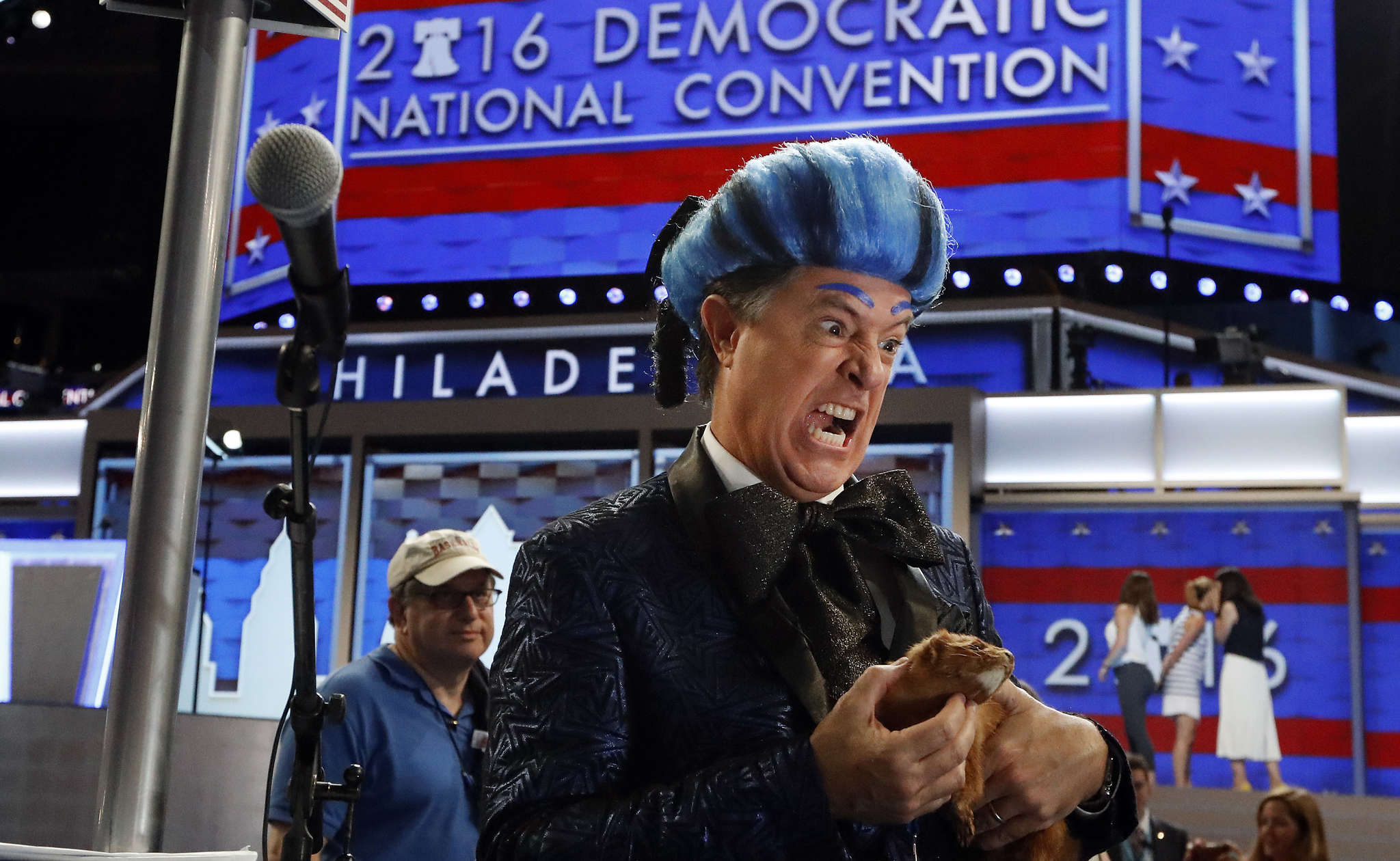 "Stephen Colbert, who has dropped in on the Democratic and Republican National Conventions, said Wednesday that Comedy Central lawyers say the character ""Stephen Colbert"" is that network´s intellectual property."