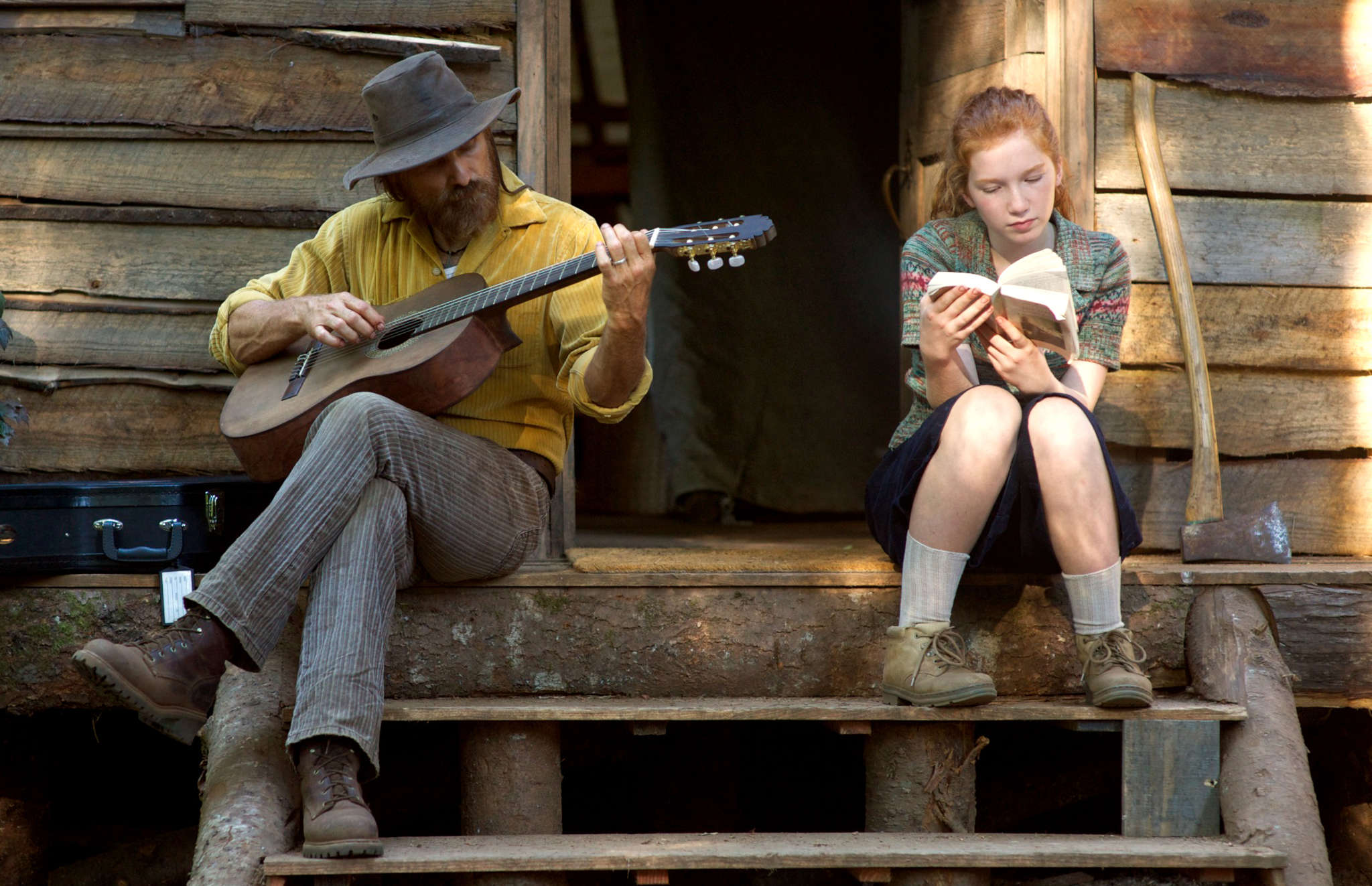 """Captain Fantastic"" stars Viggo Mortensen and Annalise Basso as one of his children."