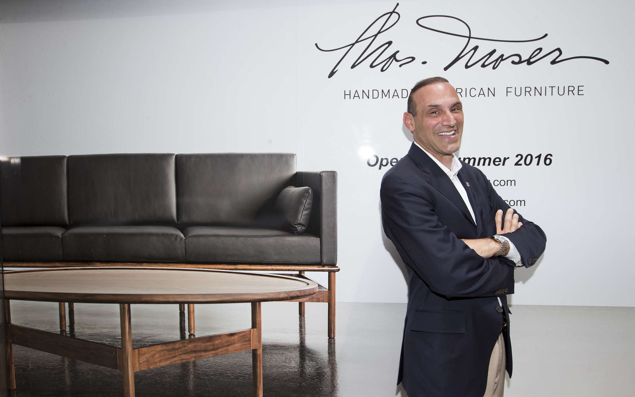 Chris Shenian of the Shenian Co., which is bringing high-end furniture makerThos. Moser toCenter City. CHARLES FOX / Staff Photographer