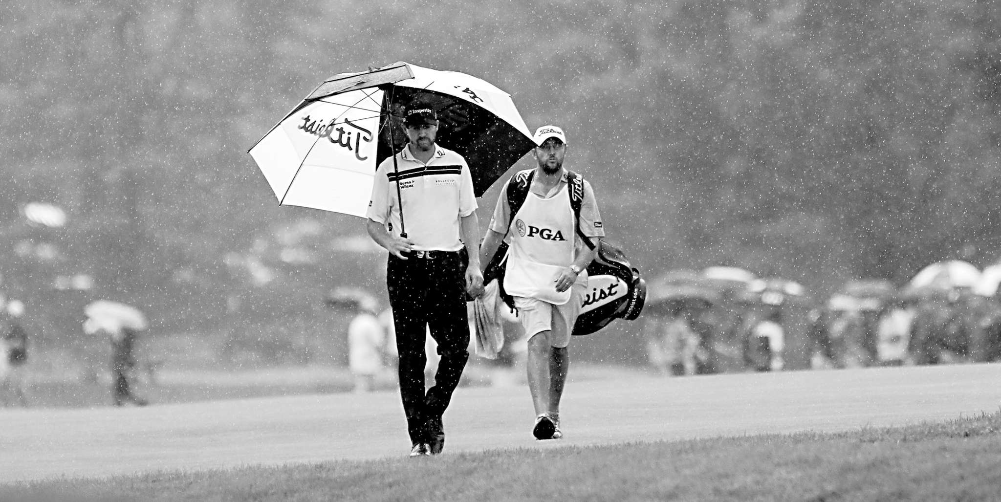 Jimmy Walker approaches his ball on the 17th fairway en route to the PGA Championship.