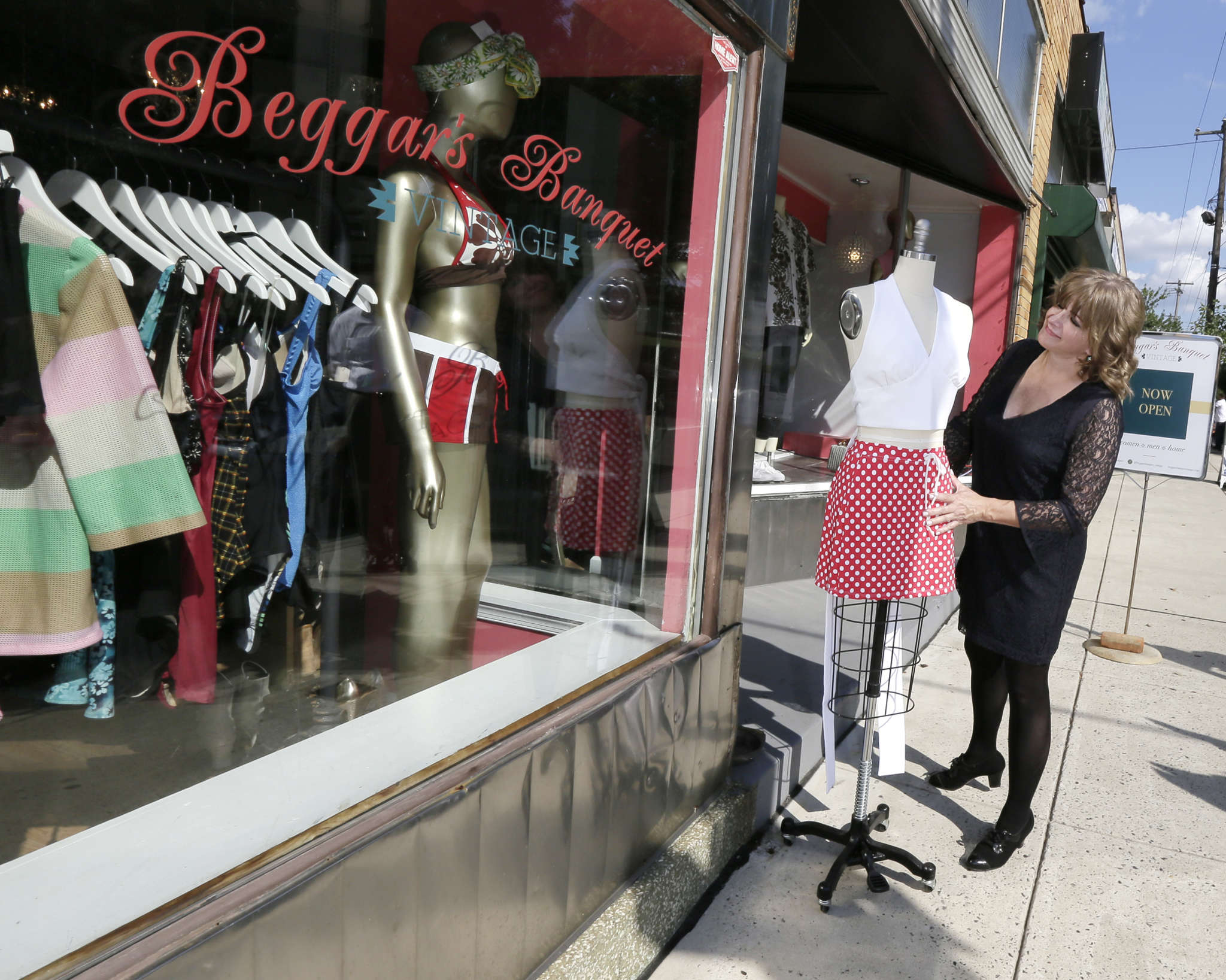 Mandy Rogers-Kravetz at Beggars Banquet Vintage, her boutique. Roxborough, she said, was less expensive.