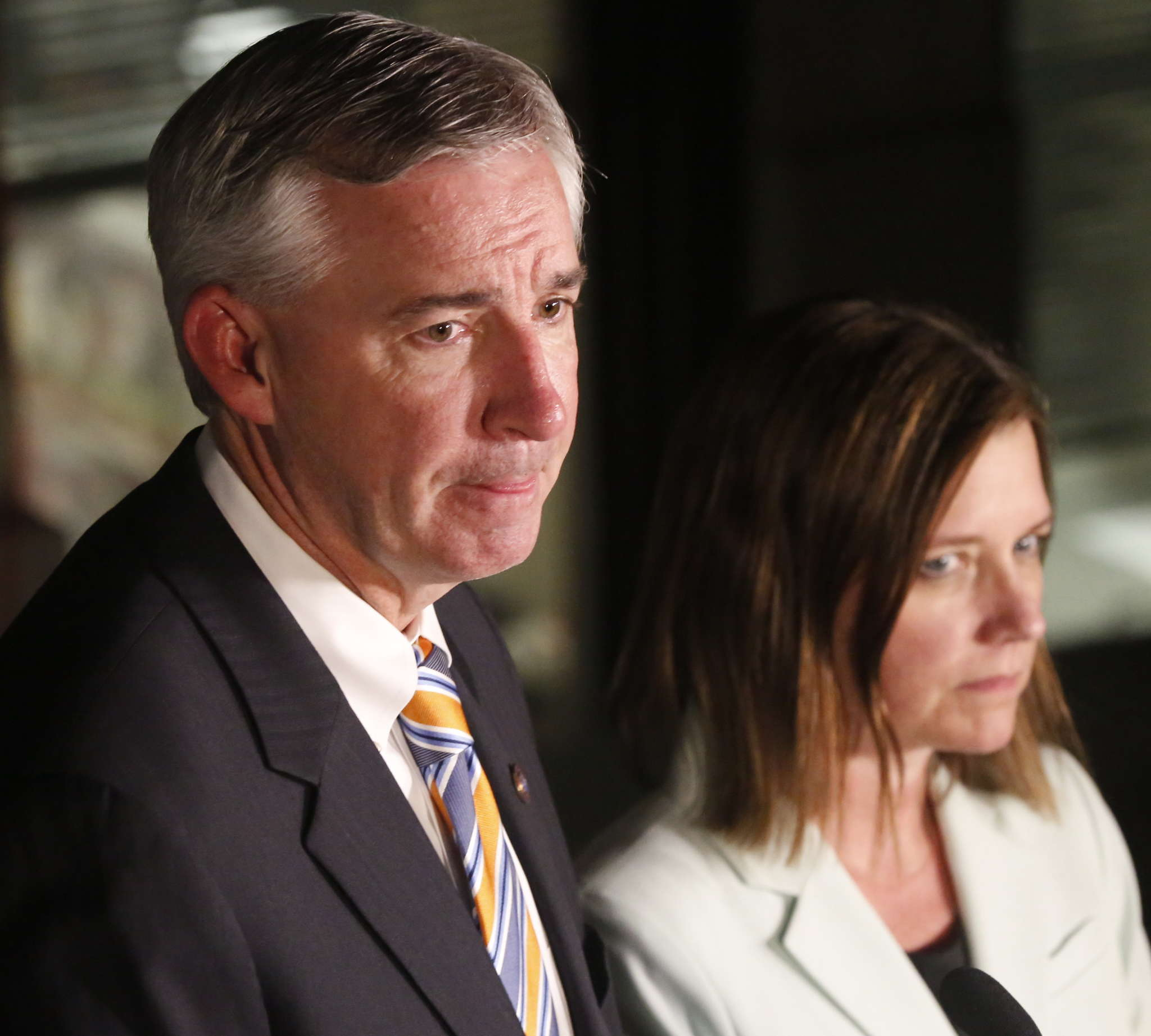 Montco District Attorney Kevin Steele, with assistant prosecutor Michelle Henry, after the Kane verdict.