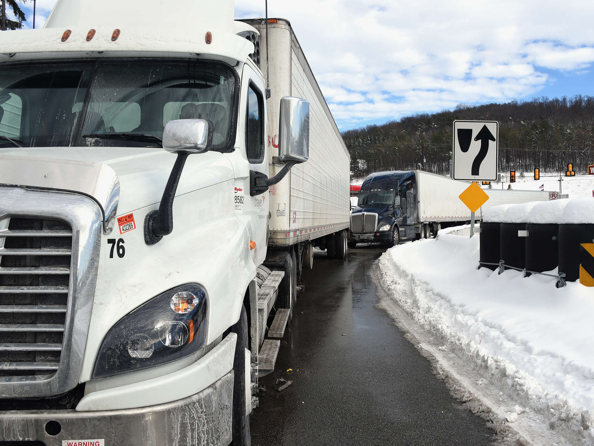 Lining up at the Pennsylvania Turnpike. With U.S. roads, rails, bridges, and more needing work, candidates Donald Trump and Hillary Clinton are promising to invest big in infrastructure.