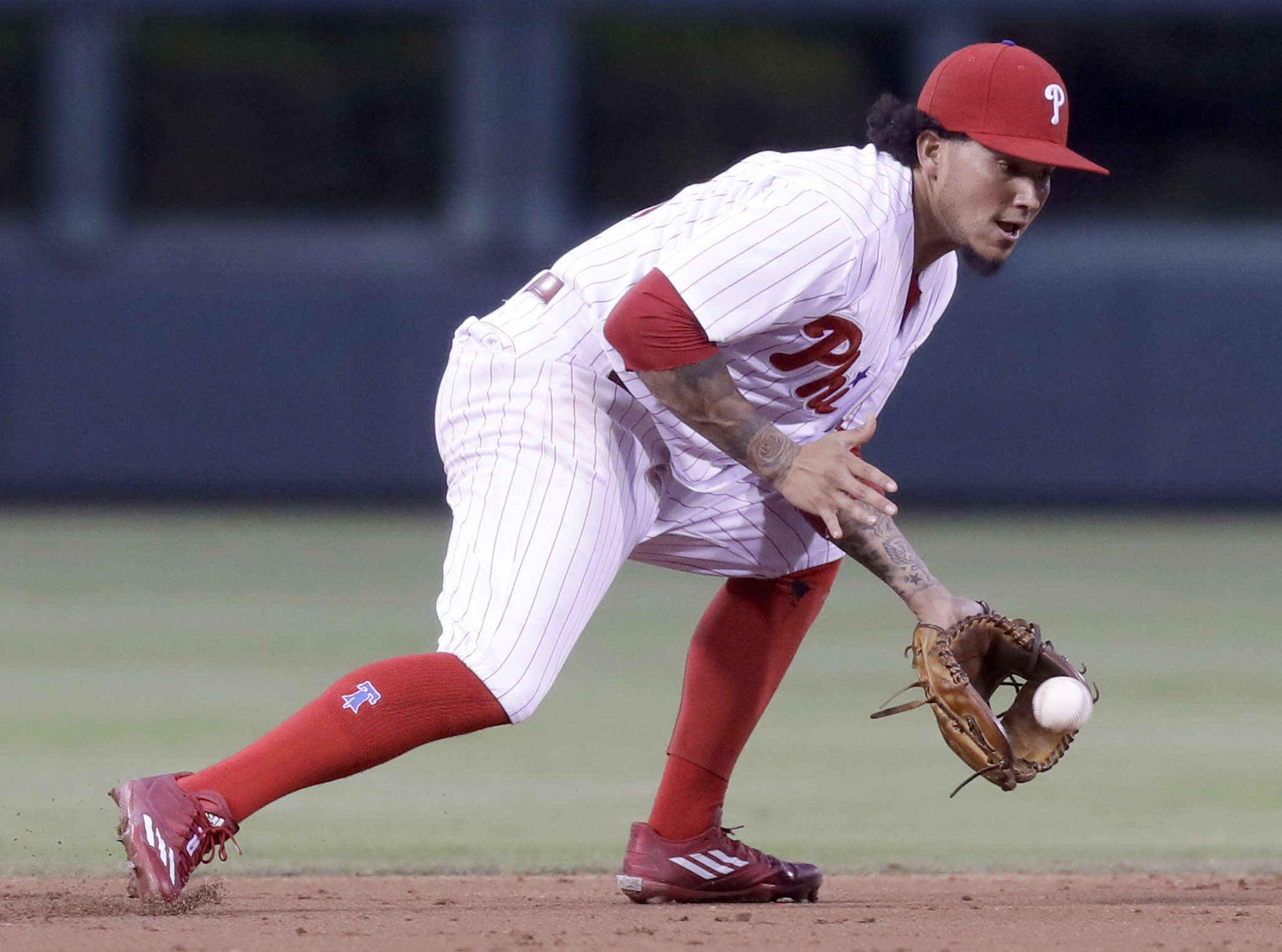 Freddy Galvis´ new focus is evident in his fielding; he has just six errors after making 17 last season. YONG KIM / Staff Photographer