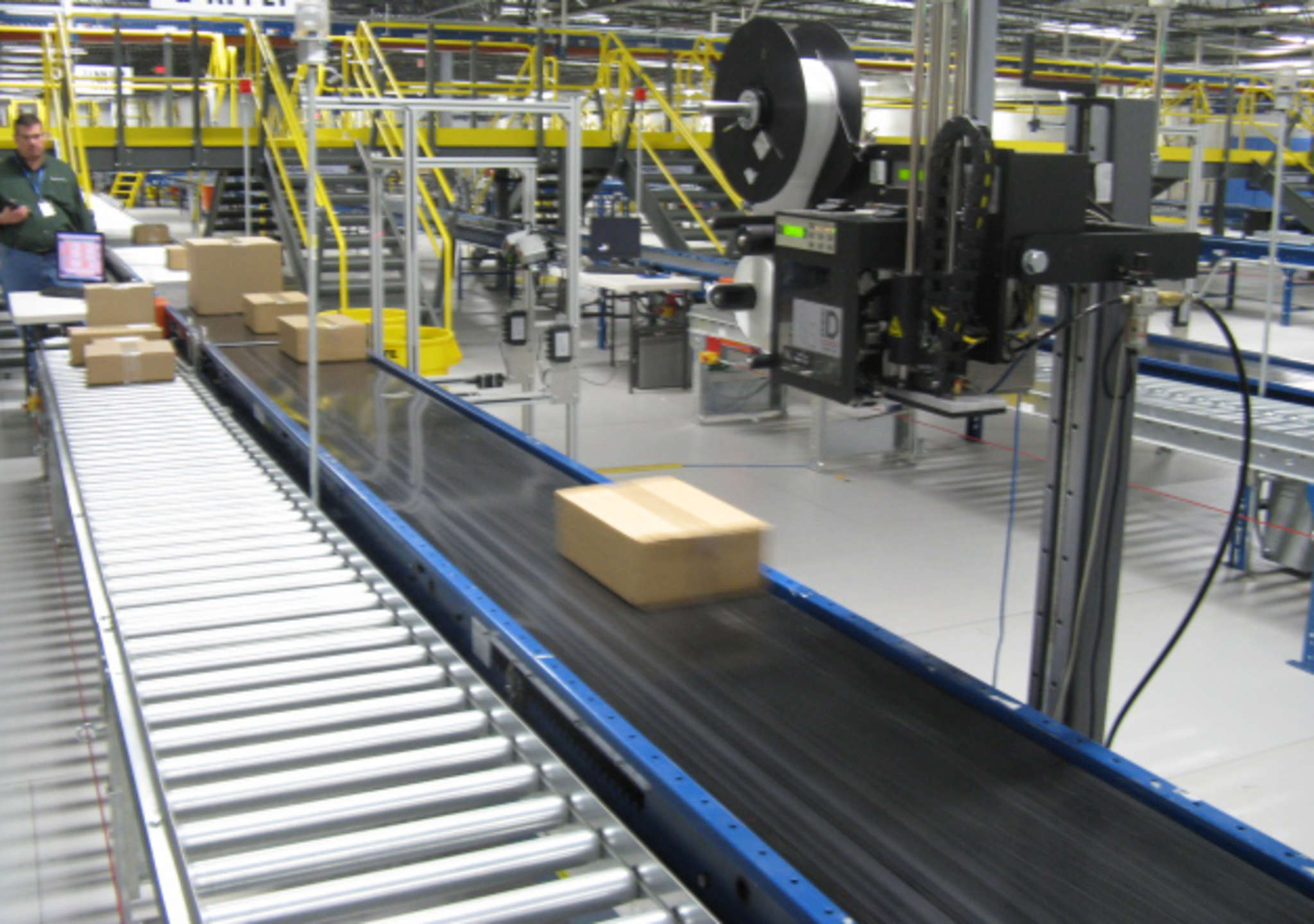 Conveyor belts at a Radial warehouse. The company is on a hiring spree as its clients gear up for Christmas sales, but says low unemployment is making prospective employees hard to come by.