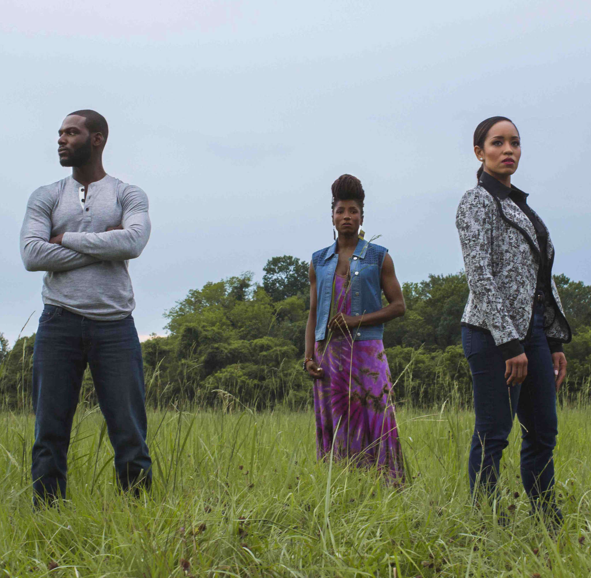 "Members of the cast of ""Queen Sugar"" (from left) Kofi Siriboe, Dawn-Lyen Gardner, and Rutina Wesley."
