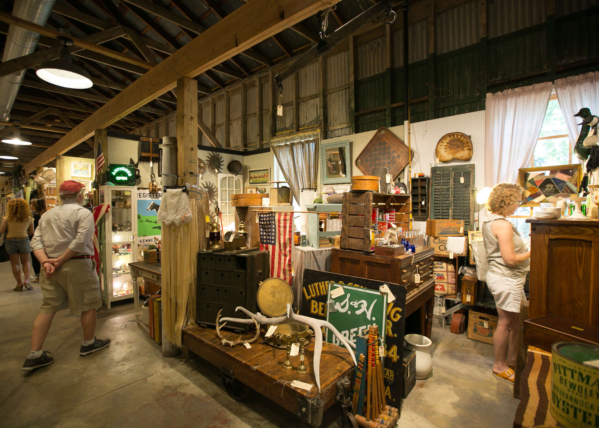At the West End Garage, 51 vendors gather under one roof, selling everything from antiques and jewelry to candles and peanut butter.