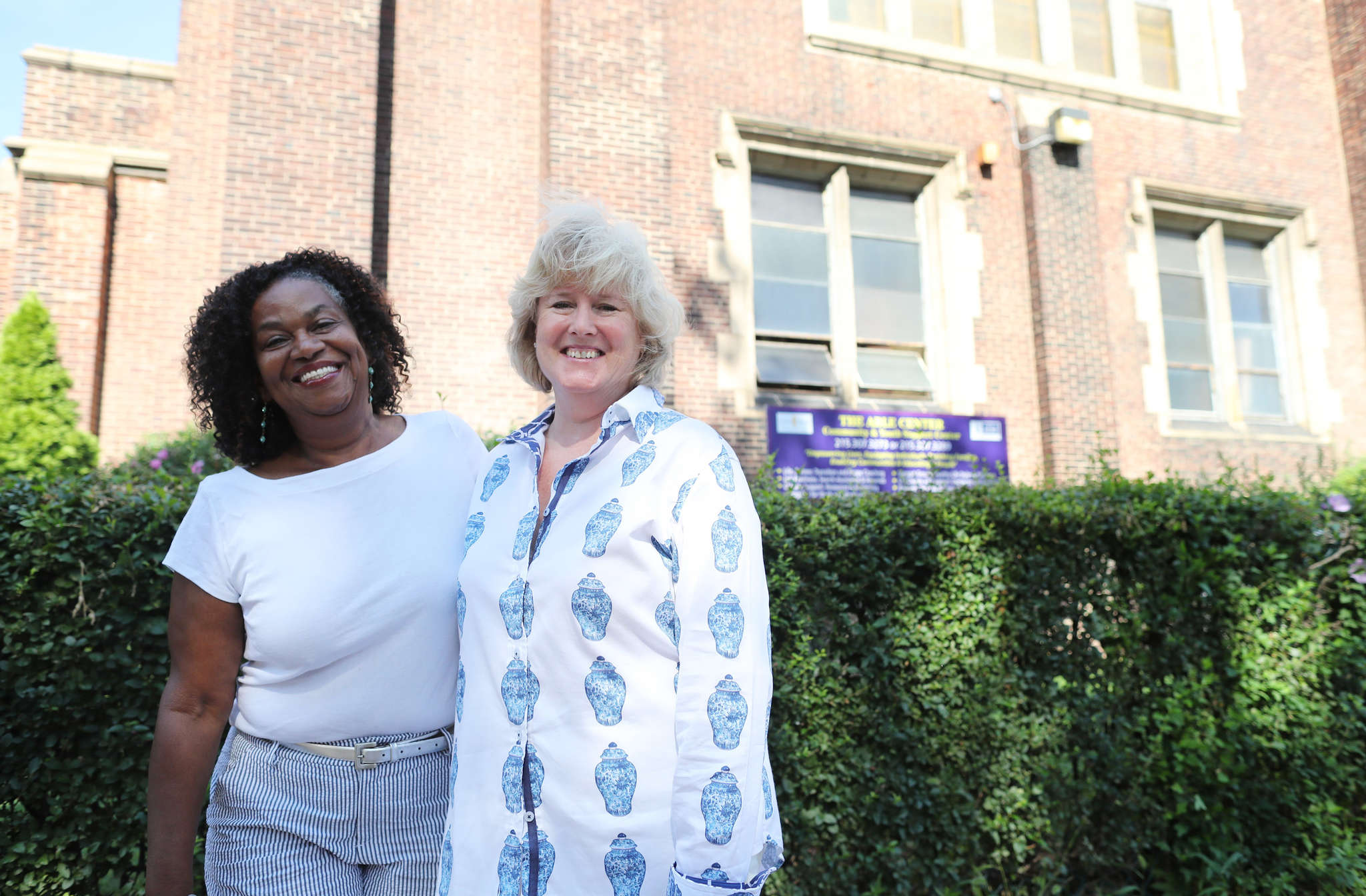 Marion Campbell (left), executive director of Eddie´s House, and Sharon McGinley, who founded the clubhouse for foster kids 10 years ago.