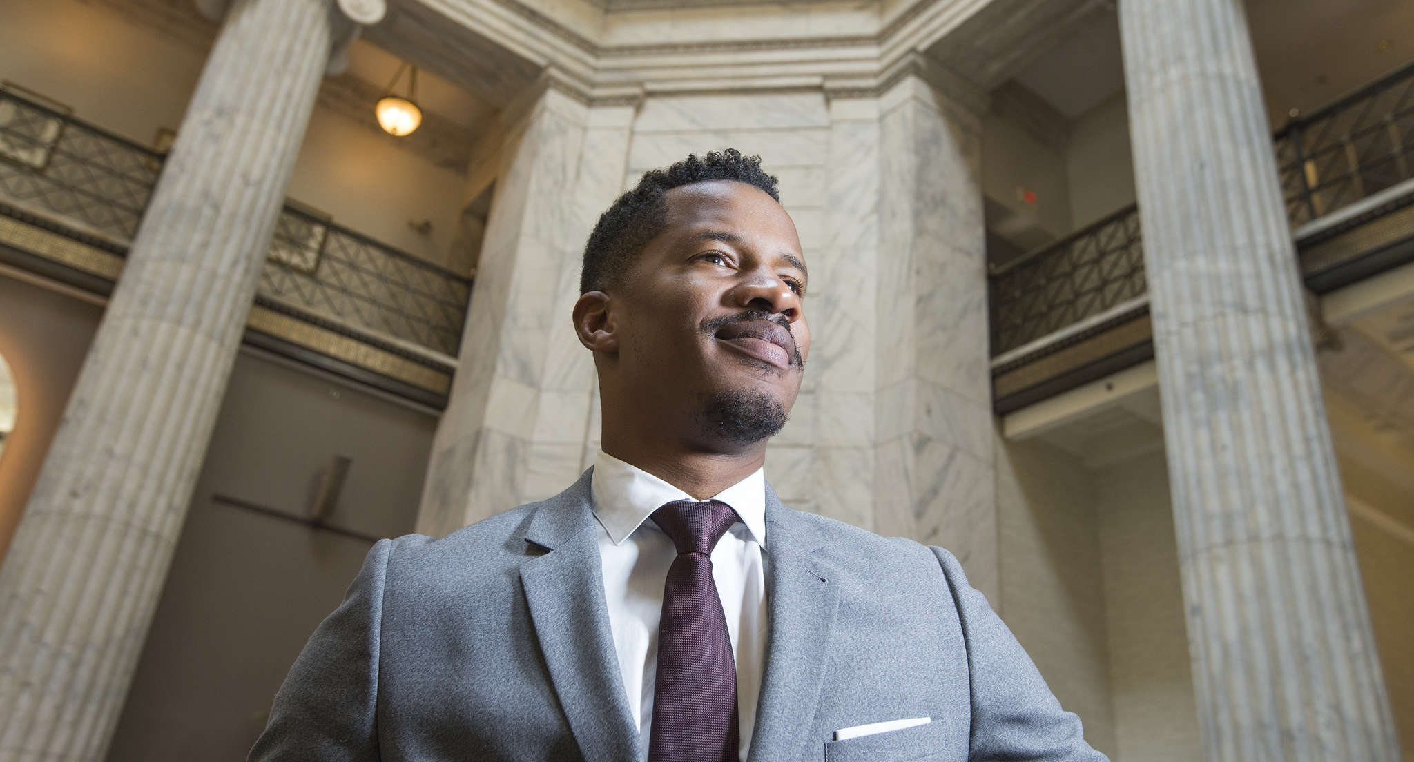 Nate Parker co-wrote, directed and stars in The Birth of a Nation, which is getting Oscar buzz and set to open Oct. 7.