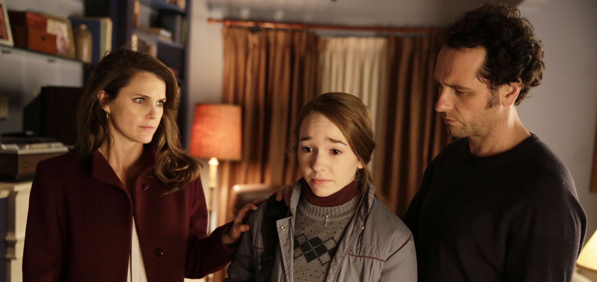 """The Americans"" features (from left) Keri Russell, Holly Taylor, and Matthew Rhys."