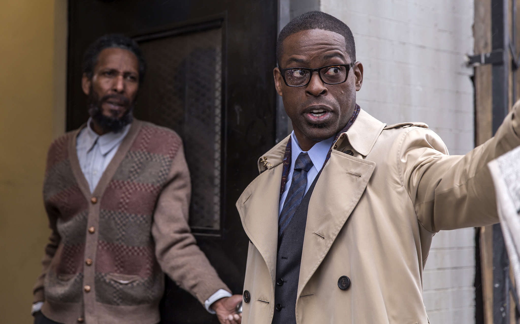 "Ron Cephas Jones (left) and Sterling K. Brown in ""This Is Us."""