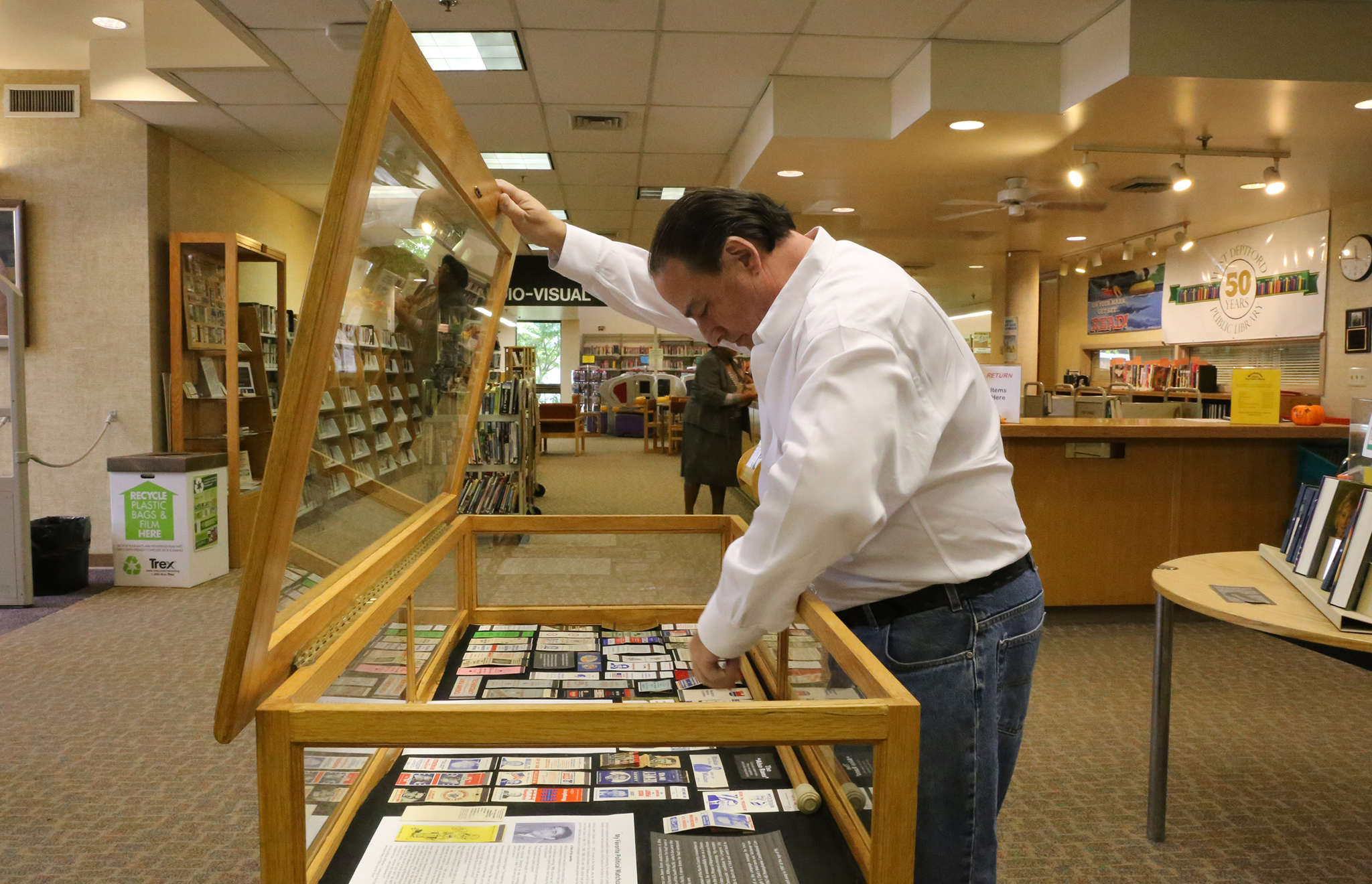 Richard Greene curated a selection of political matchbook covers for an exhibition at the West Deptford library.