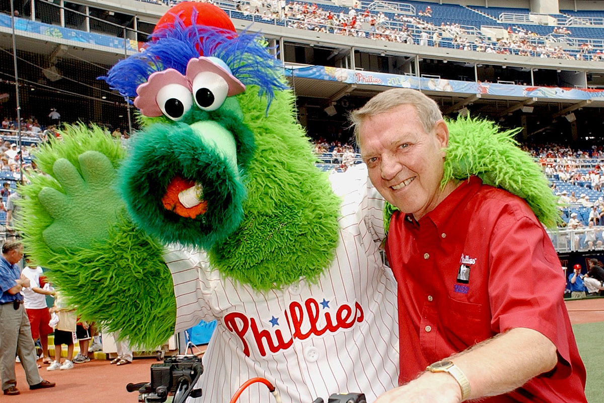 the original phillie phanatic gets a building for the