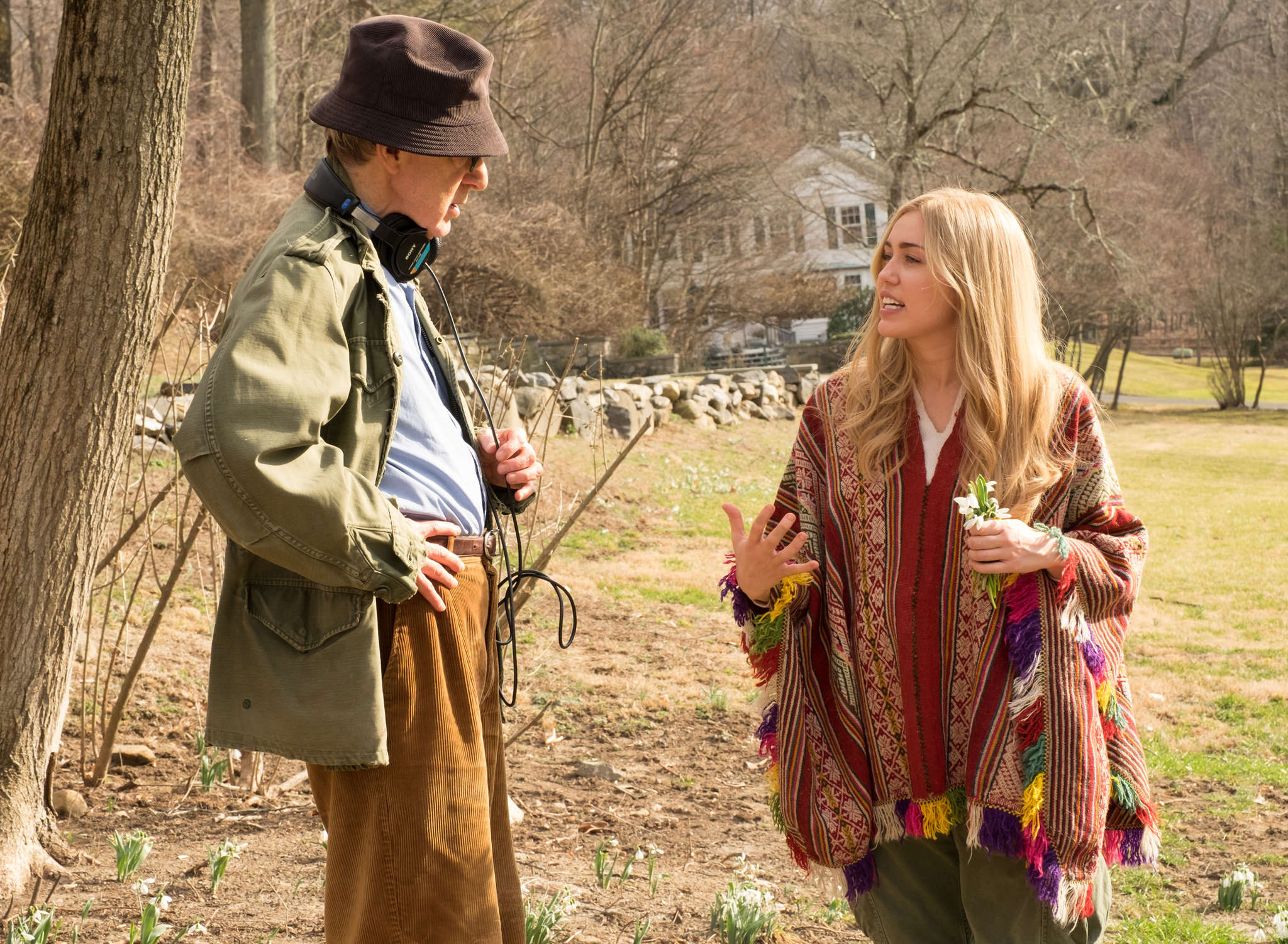 "Woody Allen and Miley Cryus in the Amazon series ""Crisis in Six Scenes."""