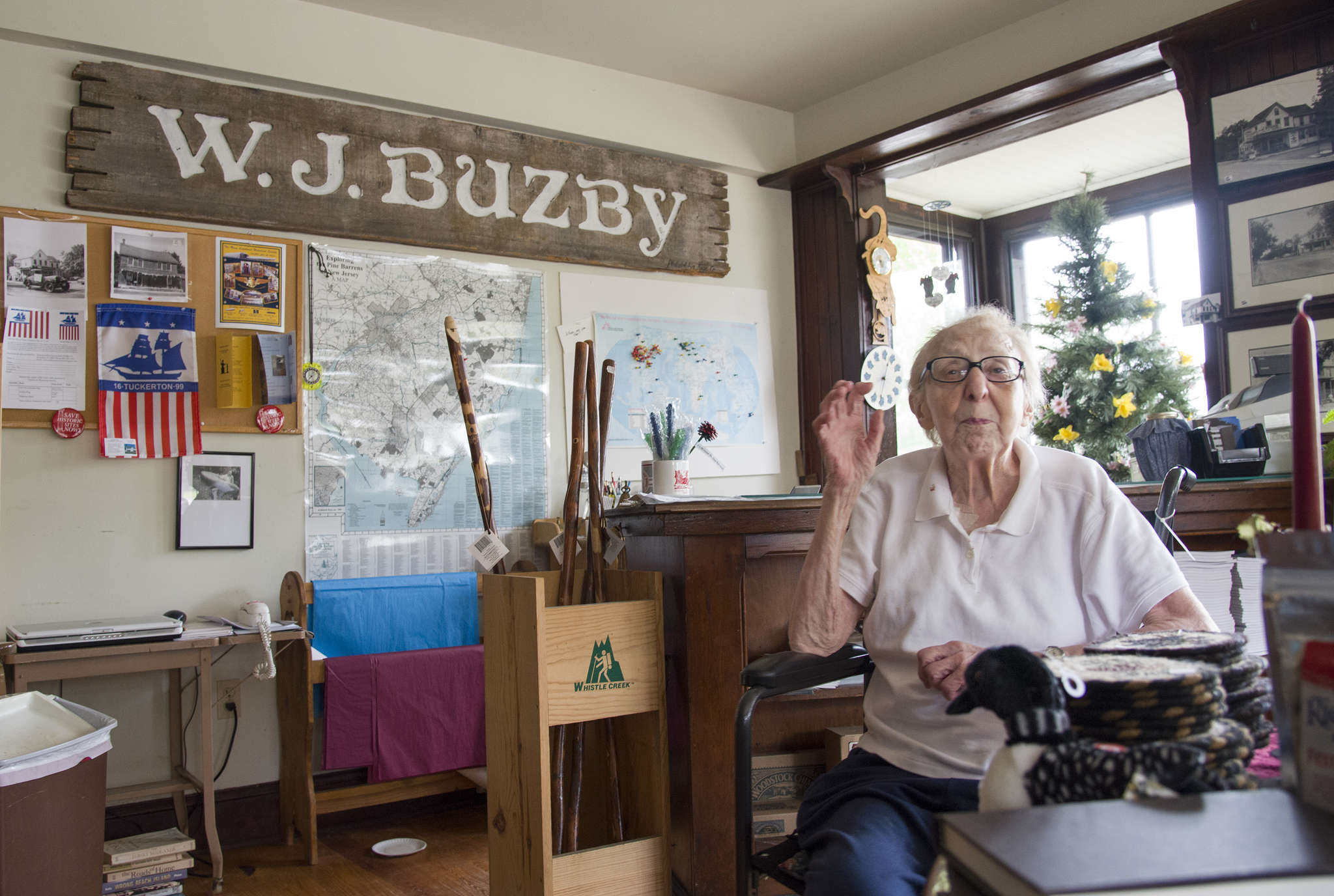 Marilyn Schmidt in her store in Chatsworth, Buzby's, named after a former owner. The store has been at the heart of the small Pinelands community since the 19th century.