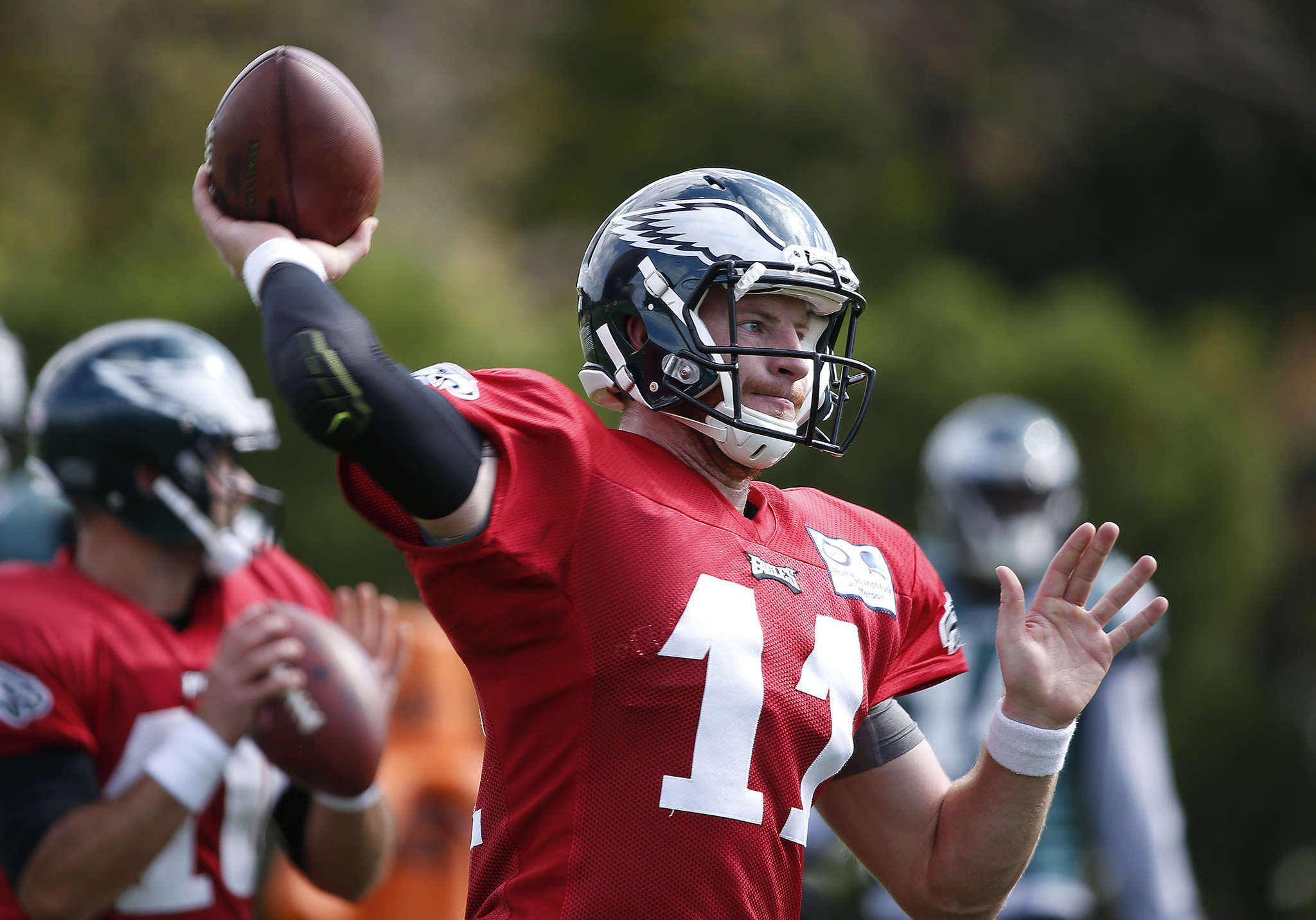 Carson Wentz impresses Redskins coach Jay Gruden with more than his skill set.