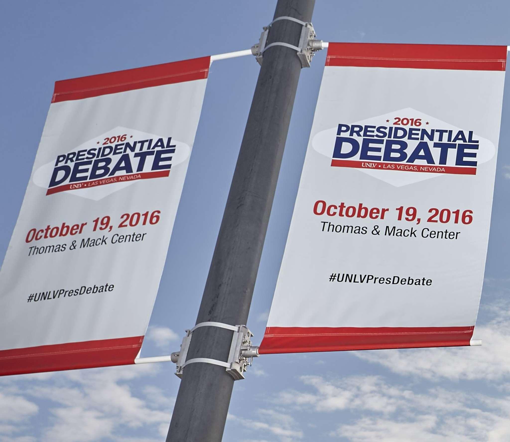 The site of Wednesday´s debate in Las Vegas.