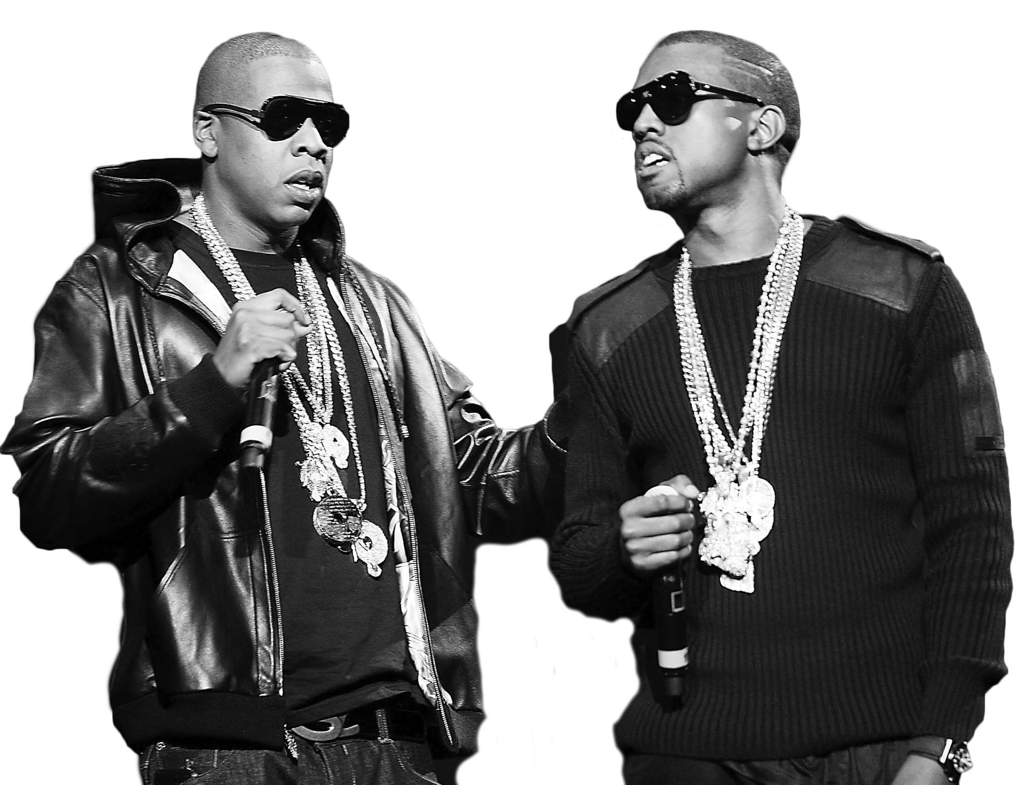 Jay Z (left) and Kanye West: Guess that friendship´s a rap.