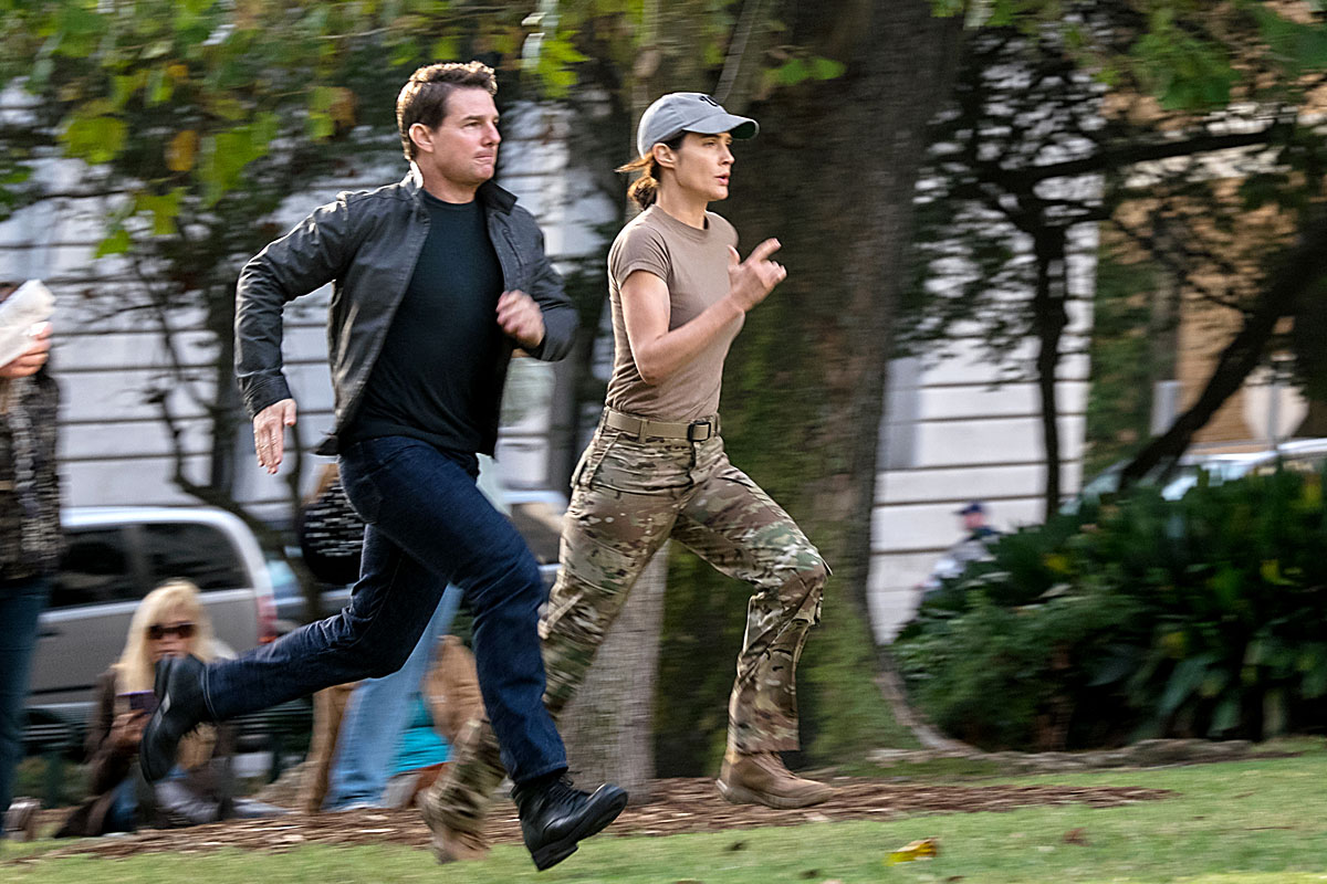 "In ""Jack Reacher: Never Go Back,"" Tom Cruise stars as the title character - ex-Army officer, drifter, weapons expert, martial artist - rescuing Cobie Smulders, an Army officer being framed for espionage."