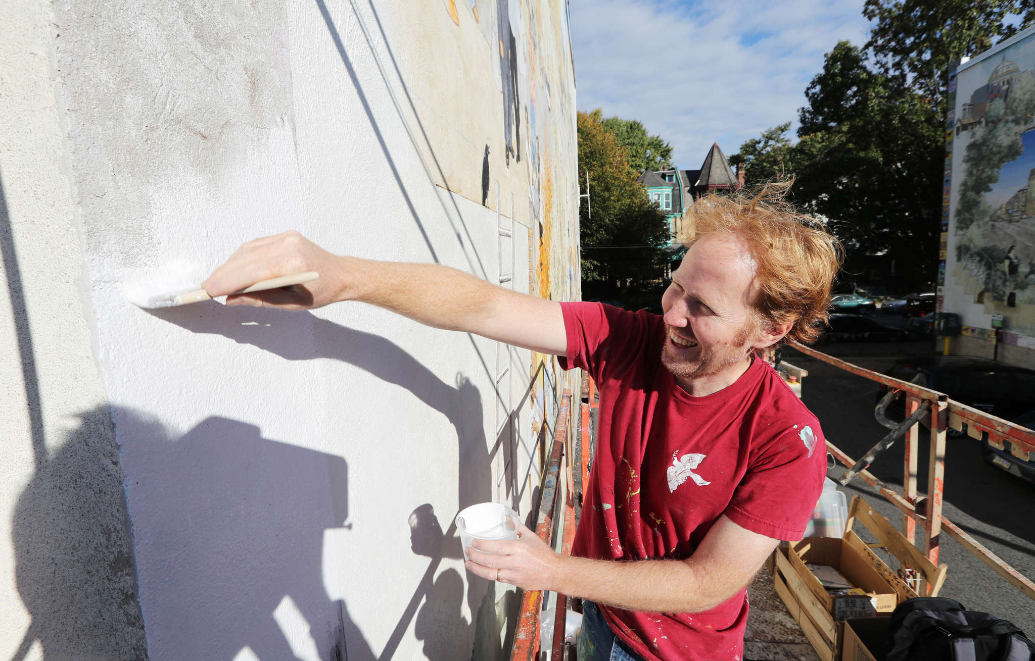 """David Guinn works to restore """"The Heart of Baltimore Avenue."""""""