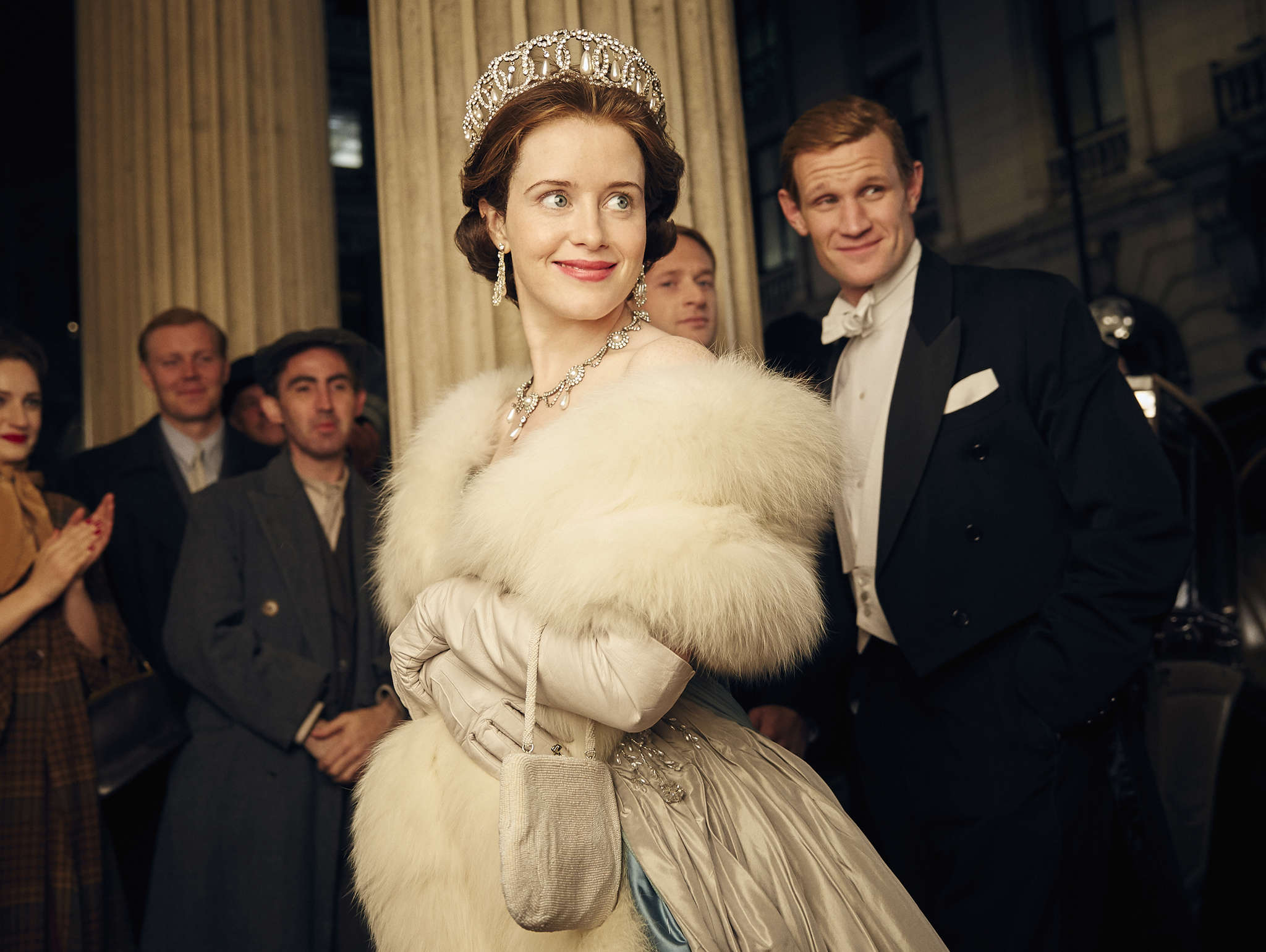 """The Crown"" stars Claire Foy as Queen Elizabeth II and Matt Smith as Prince Philip."
