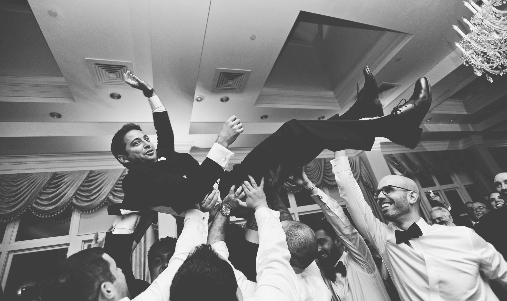 At one point, groom Greg Markus crowd-surfed. Mostly, he danced with his bride.