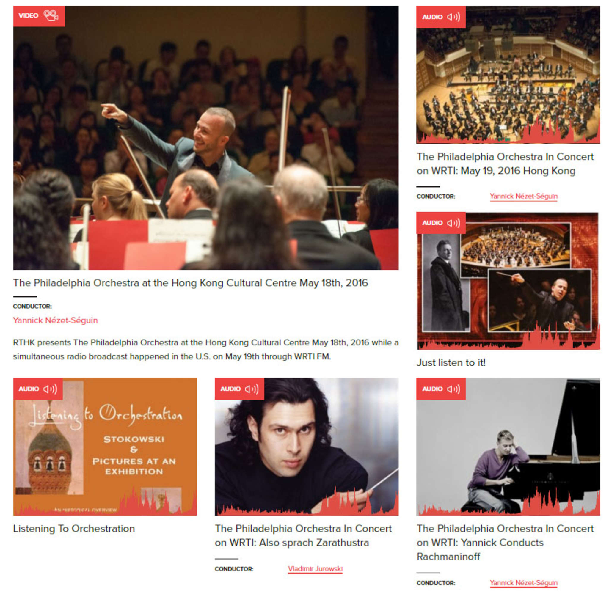 The new face of the ´s On Demand service. Philadelphia Orchestra