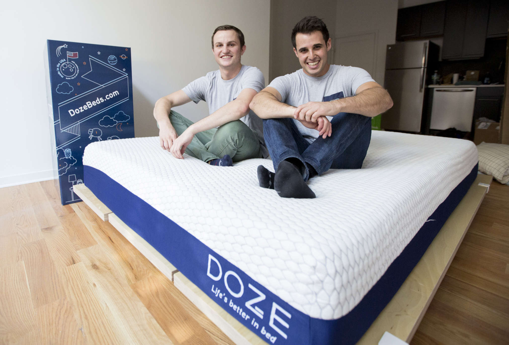 Online offerings are the specialty of Brendan Rice (left) and Russell Suskind.