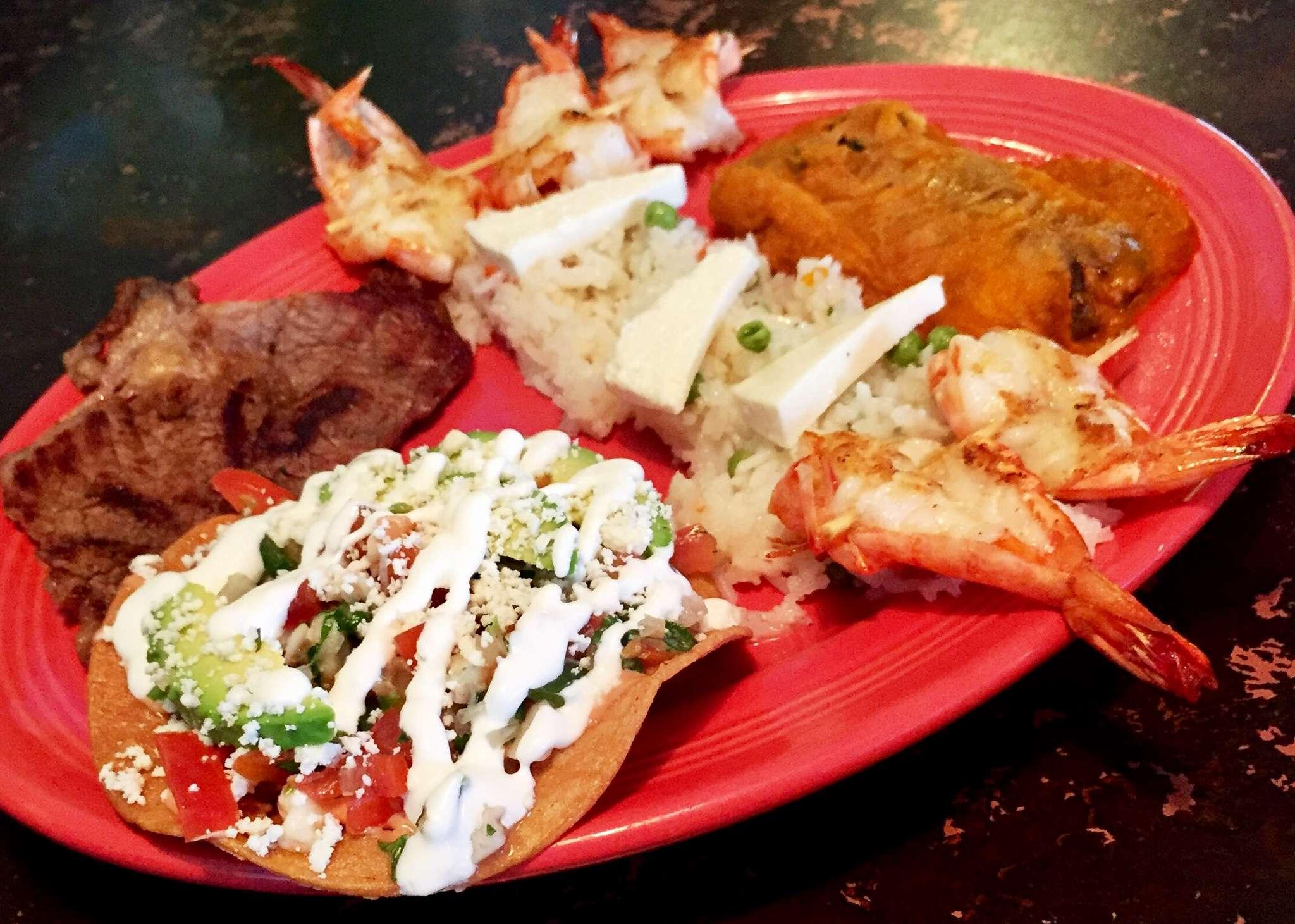 """El Mariachi"" platter from San Lucas Mexican Restaurant in Camden."