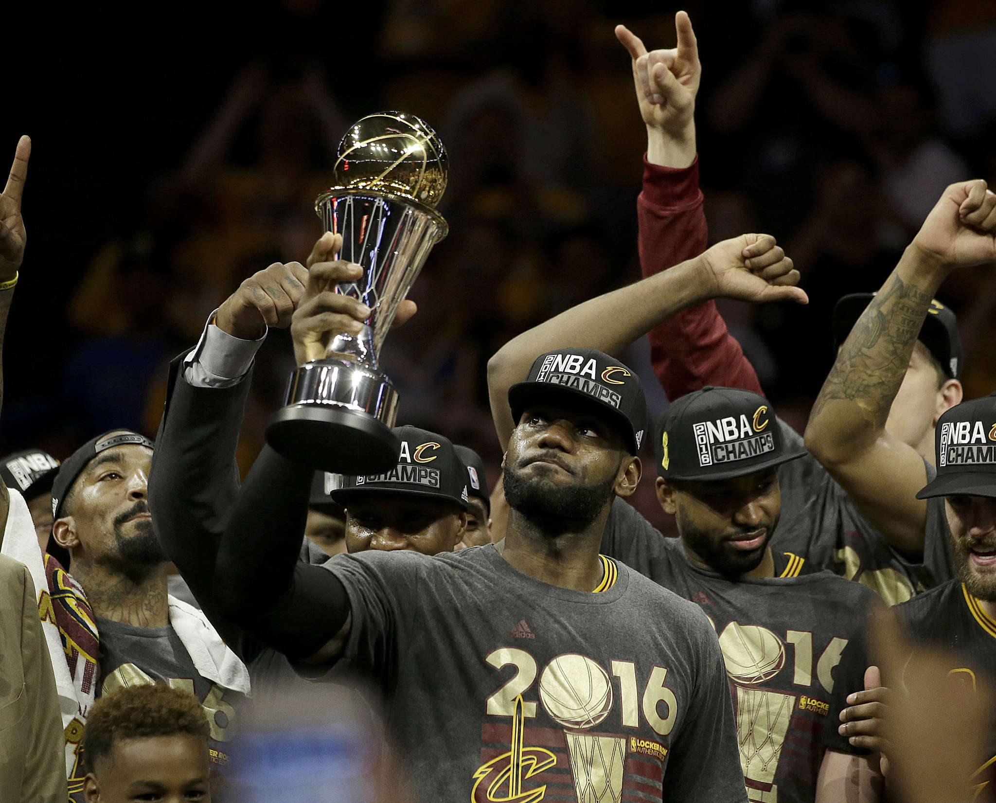 LeBron James and the Cavs brought Cleveland together. ASSOCIATED PRESS