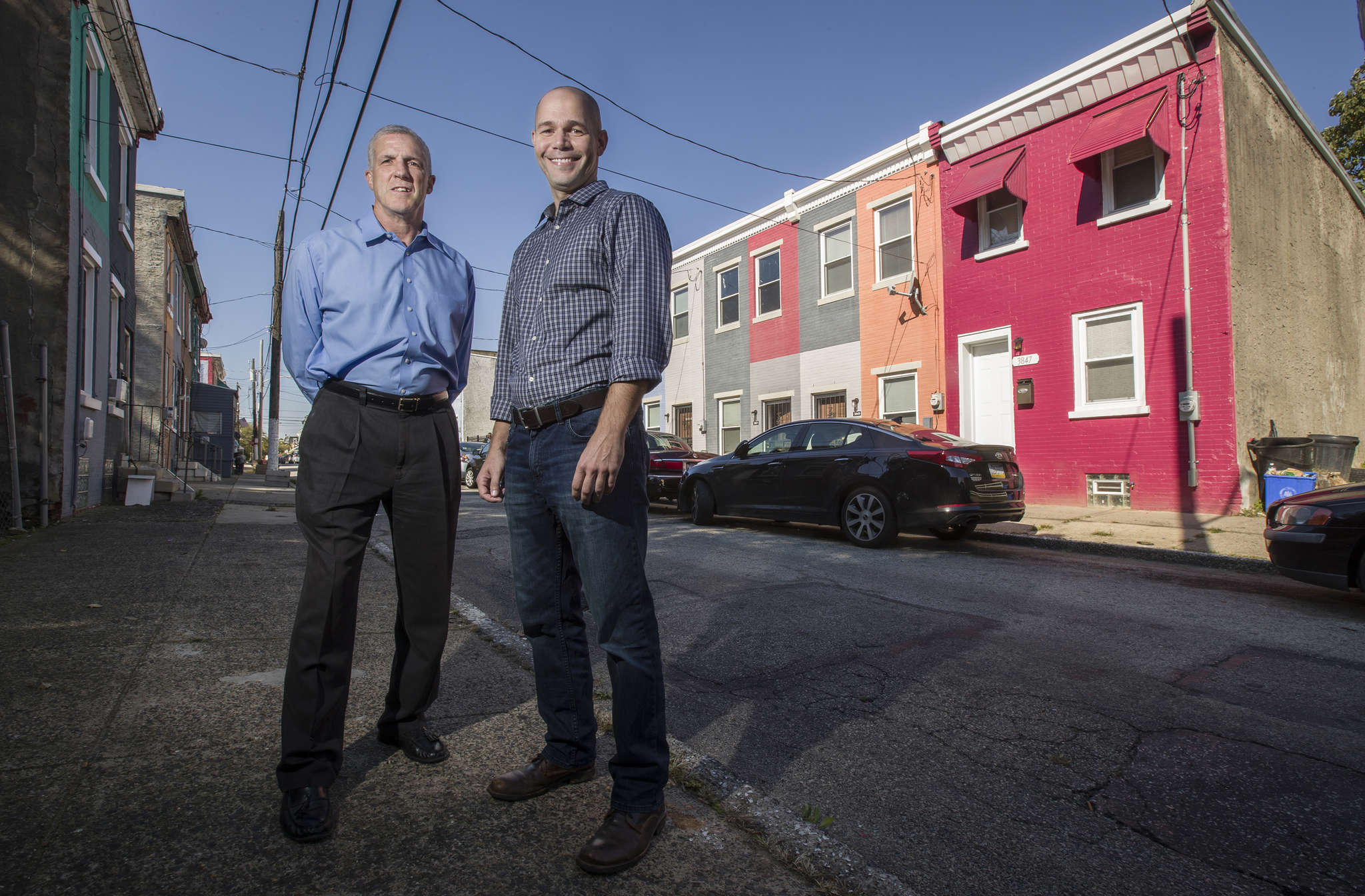 West Philadelphia Real Estate´s James Levin (left) and George Bantel on Melon Street.