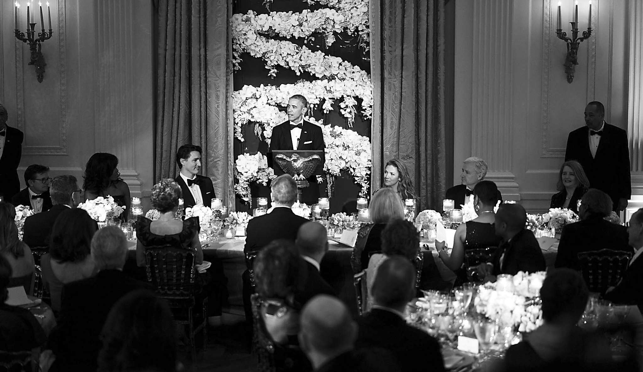 The State Department tries to hide the costs of White House state dinners, which are paid for by taxpayers. Here is President Obama, speaking at a state dinner in March.