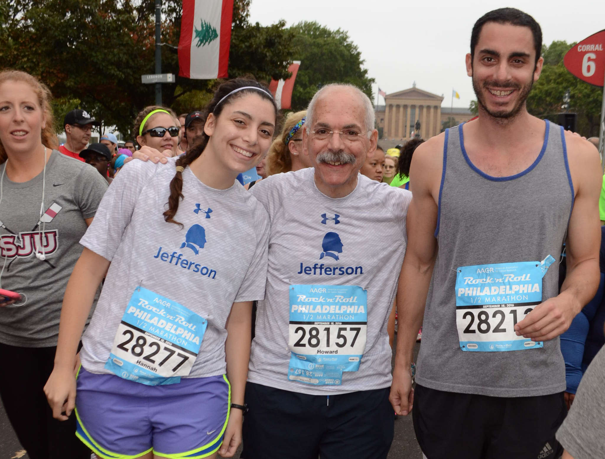 Howard Weitz (center) with daughter Hannah and son Ben at the 2016 Rock ´n´ Roll Philadelphia Half Marathon on Sept. 18. Weitz completed the run in 2 hours, 48 minutes, 6 seconds.