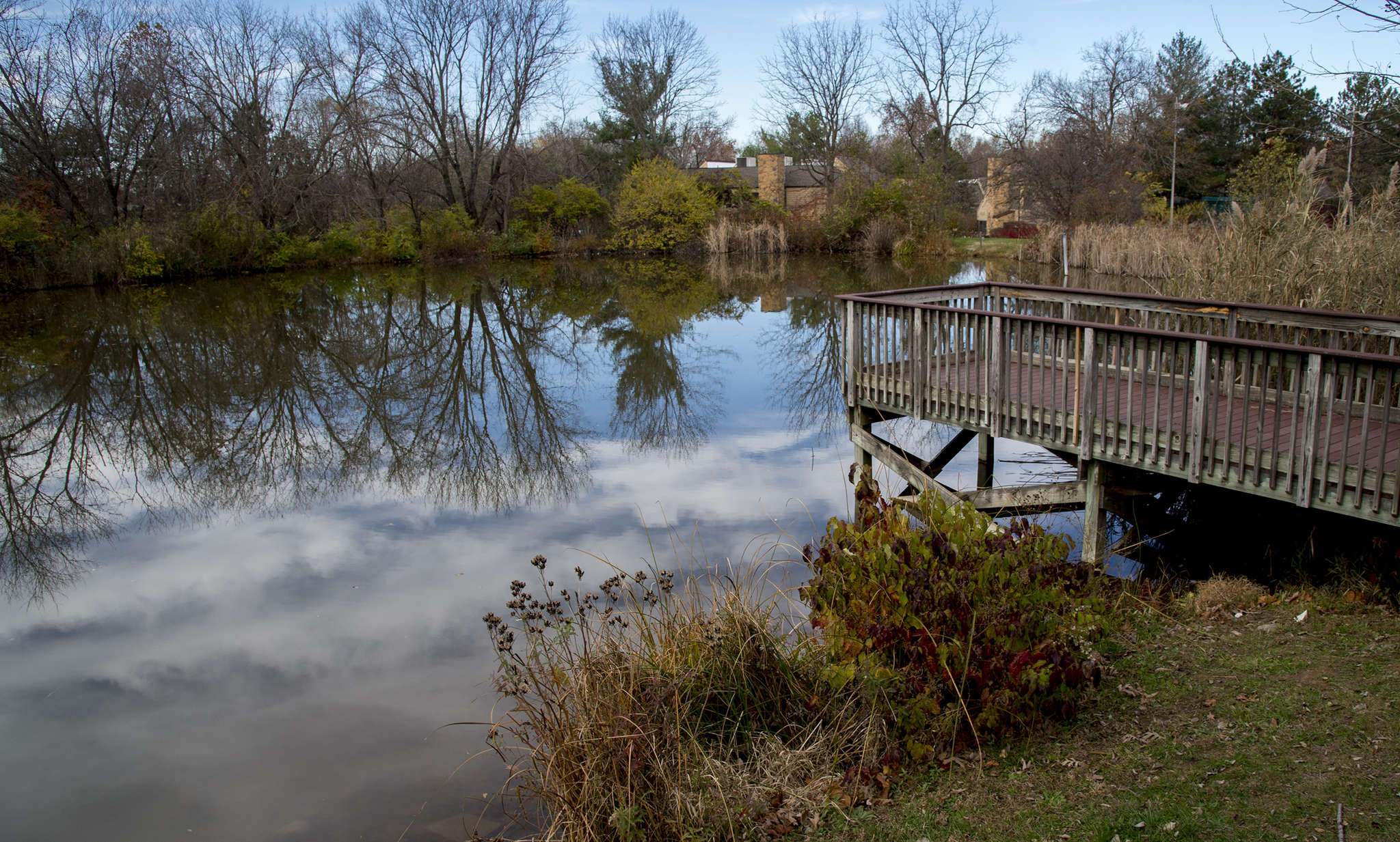 The pond at East Plymouth Valley Park, where locals can also enjoy recreational fields, a picnic area, or just a simple nature walk.