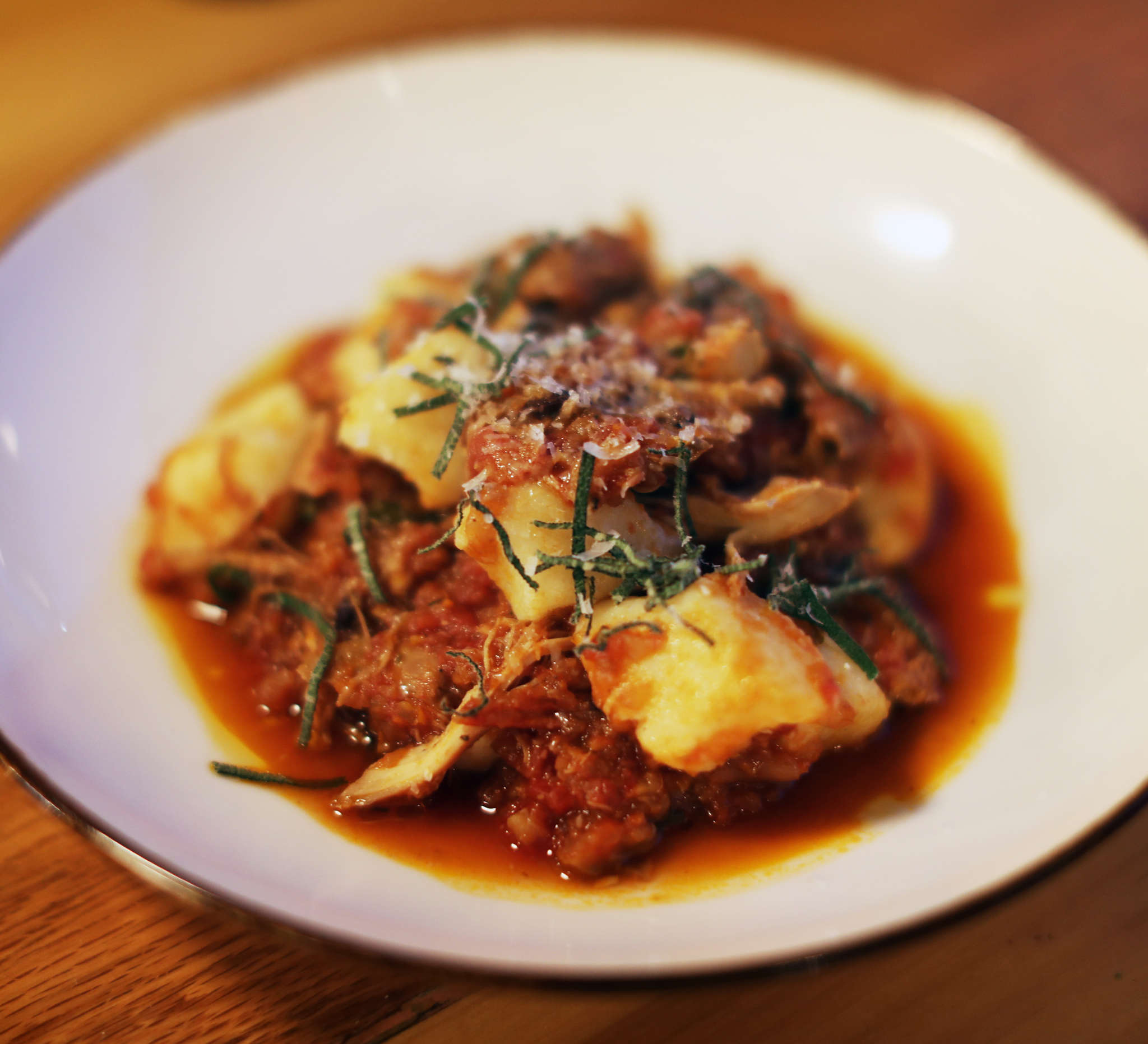 Ragu with gnocchi from Biga´s rotating list of pastas, all of which are worth ordering.