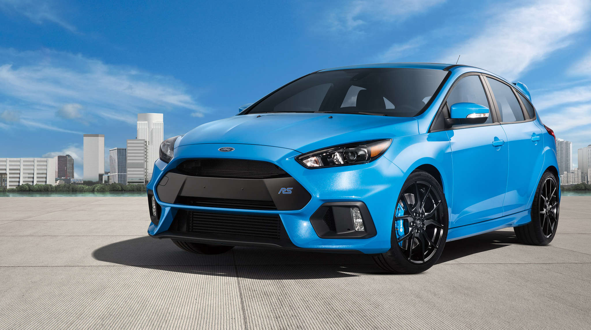 The 2017 Ford Focus RS offers a practical hatchback configuration, but legroom in the rear seats is a little tight.