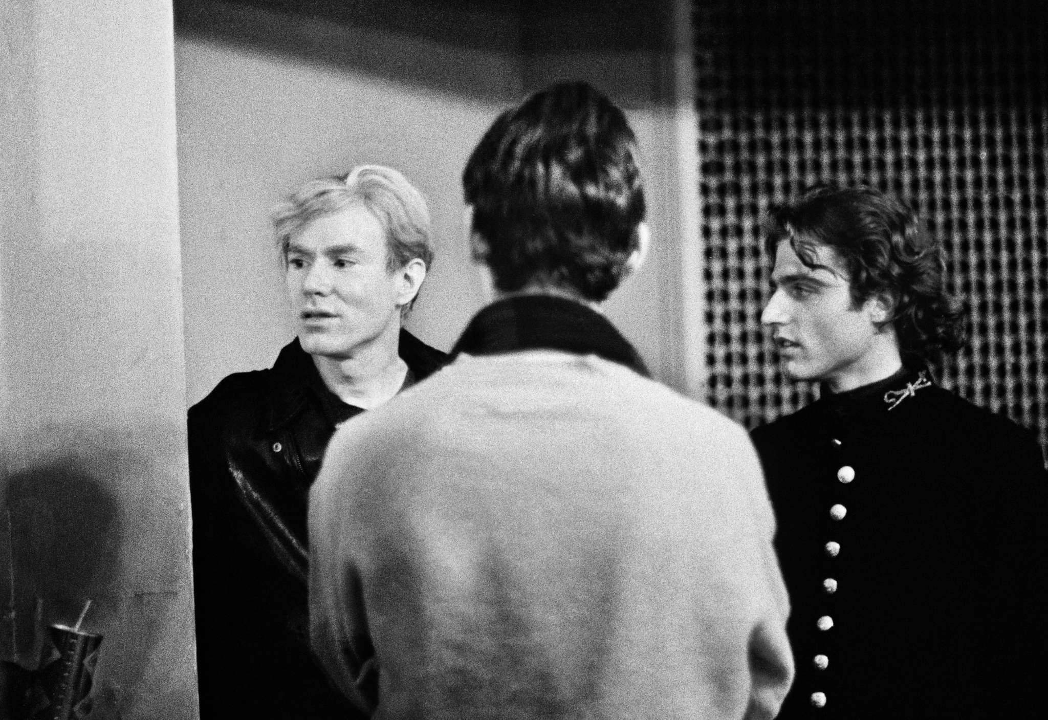 Andy Warhol and Gerard Malanga (right) at the Gershman Y in 1966.