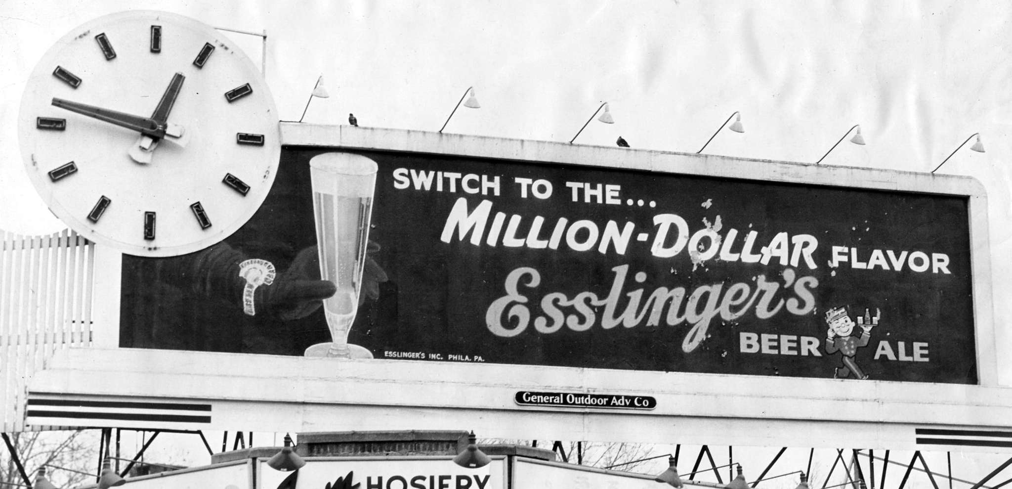 A billboard for Esslinger´s beer.
