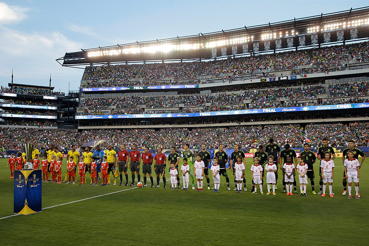 The 2015 Gold Cup final between Jamaica and Mexico sold out Lincoln Financial Field.