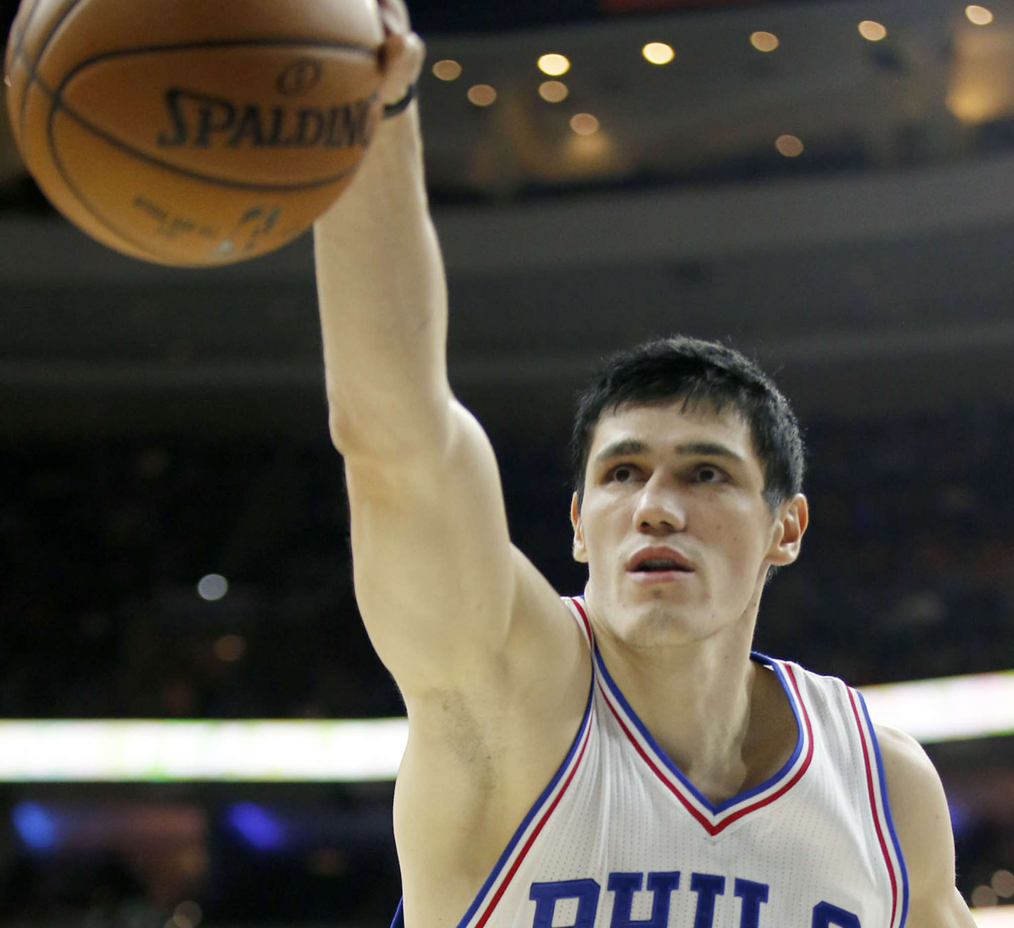Sixers forward Ersan Ilyasova is a good complement on the court with budding star Joel Embiid, and also plays well with other members of the team.