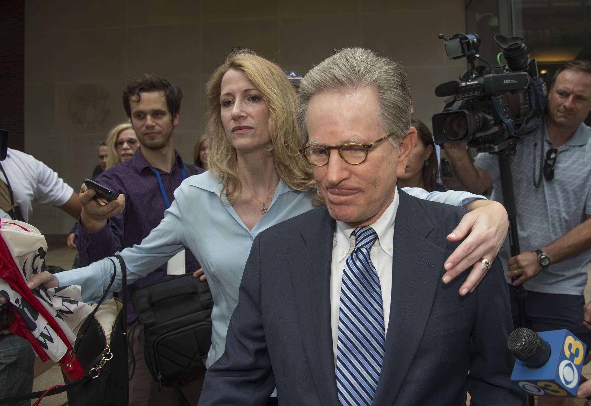 Herbert Vederman with niece Jaclyn Savitz. He was found guilty of bribing Chaka Fattah.