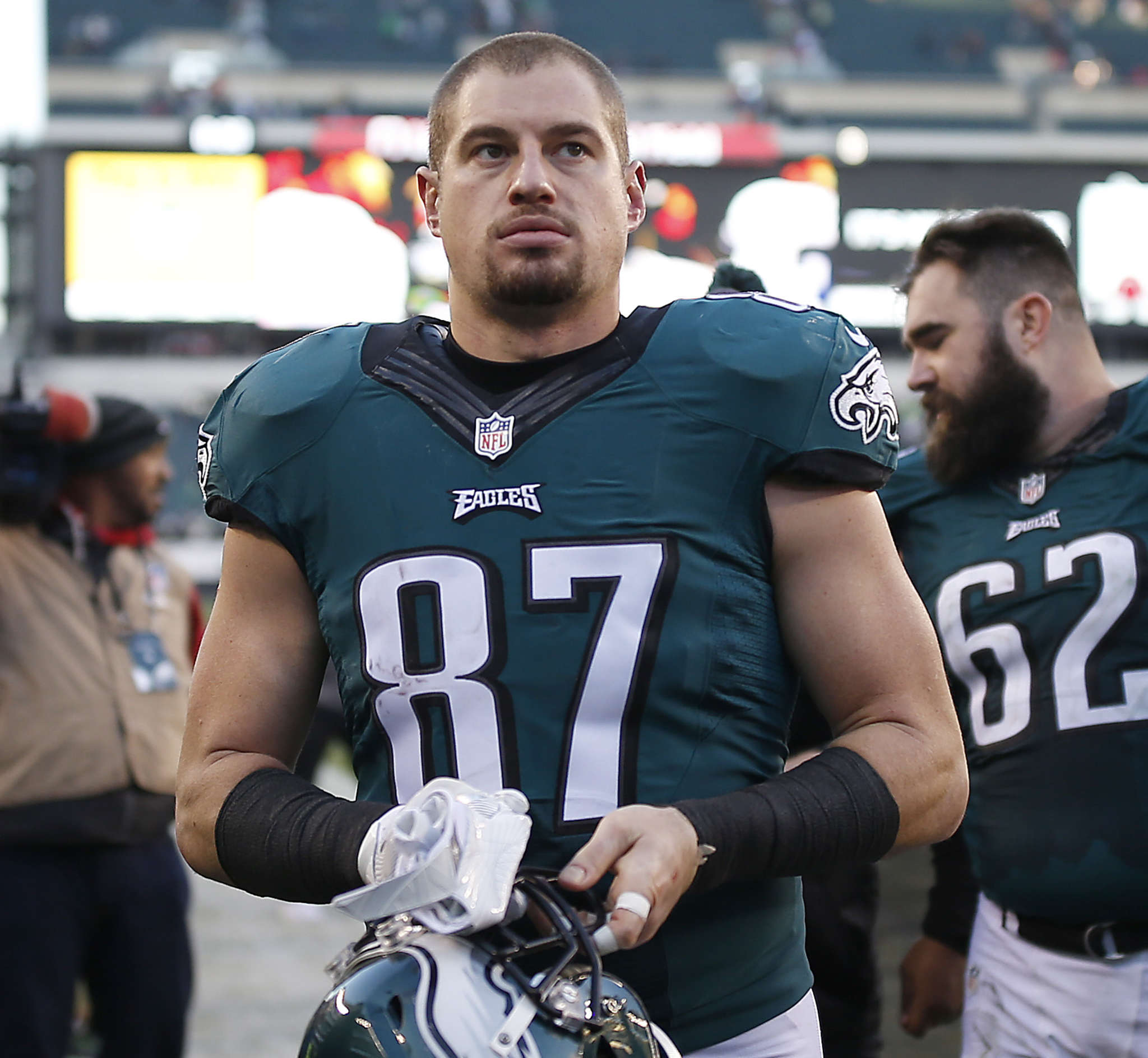 Brent Celek had a career-low 14 receptions this season but is the Eagles´ best-blocking tight end.