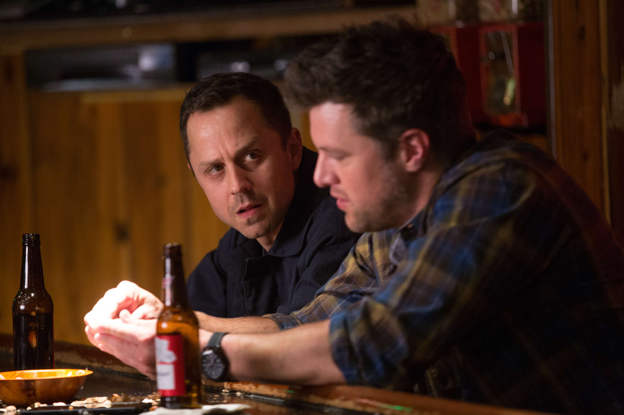 "Amazon´s ""Sneaky Pete"" stars Giovanni Ribisi (left) in the title role, with Shane McRae."
