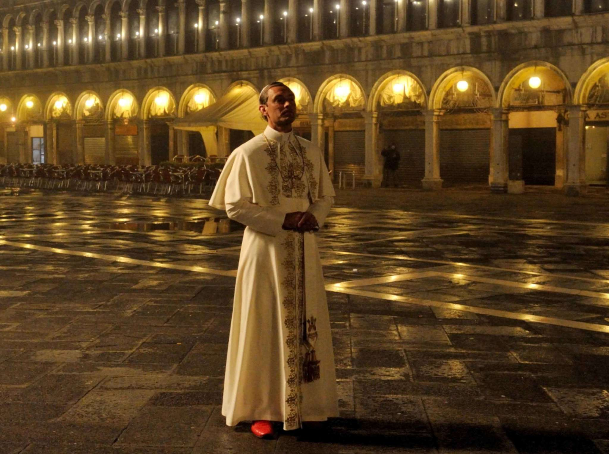 "Jude Law is a 40-year-old pope, manipulative, maybe deranged, in HBO´s ""The Young Pope."""