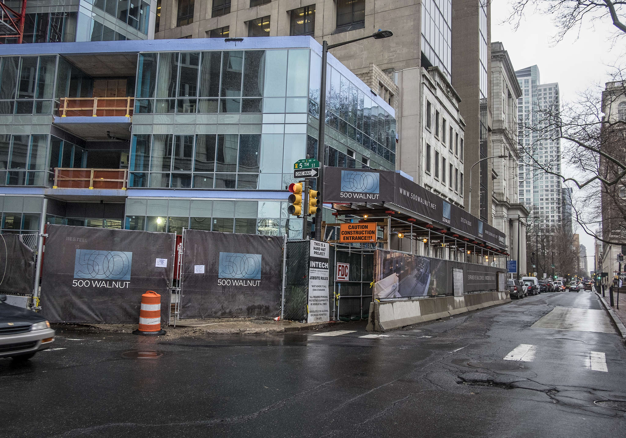 The luxury 500 Walnut building, scheduled to be finished early in 2017, includes one penthouse that is said to have sold for $17.85 million.