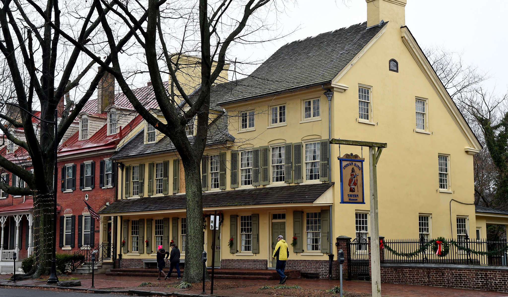 The Indian King Tavern along Kings Highway in downtown Haddonfield was built in 1750.