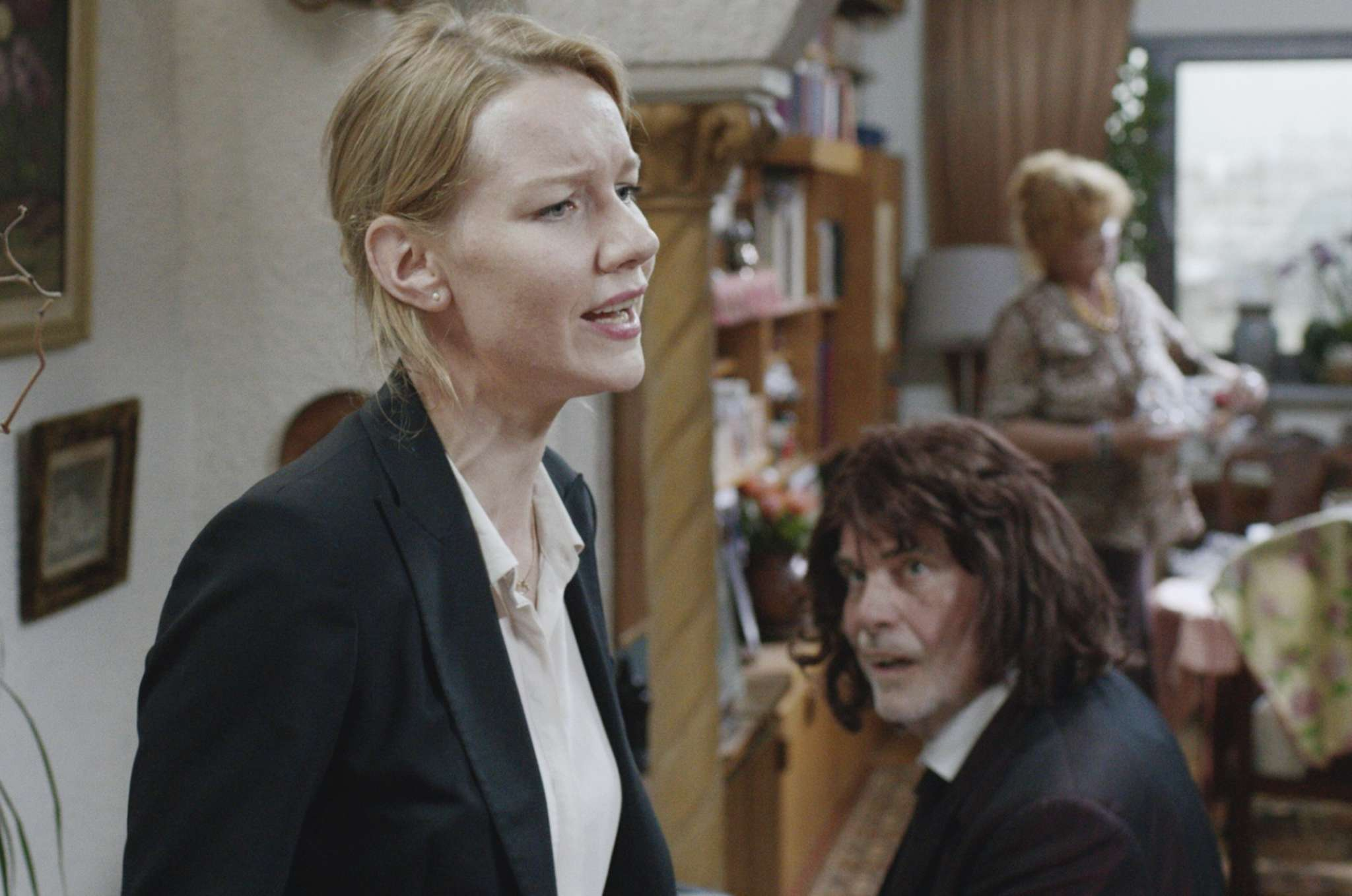 "Sandra Hüller - with Peter Simonischek as her prankster dad - has a key, much-talked-about nude scene in ""Toni Erdmann."""