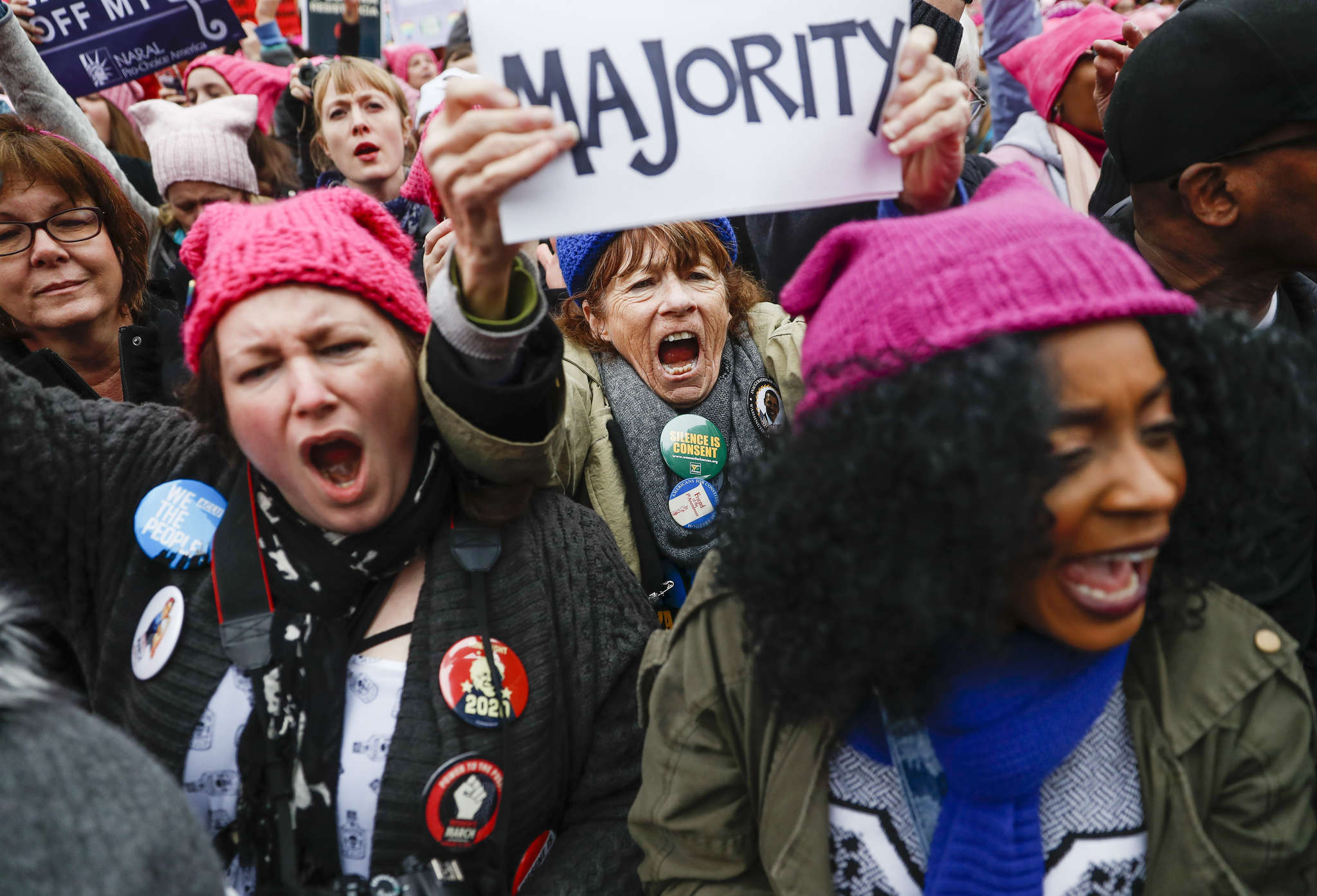At the Women´s March on Washington. Long before thousands converged on the capital, there was controversy about the lack of diversity.
