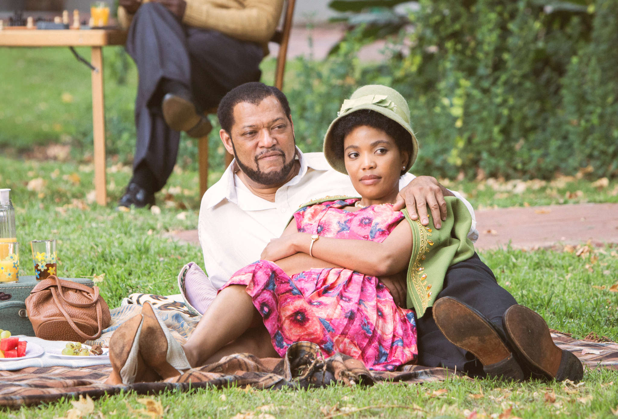 "Laurence Fishburne and Terry Pheto star in ""Madiba,"" a six-hour mini-series starting Wednesday on BET."