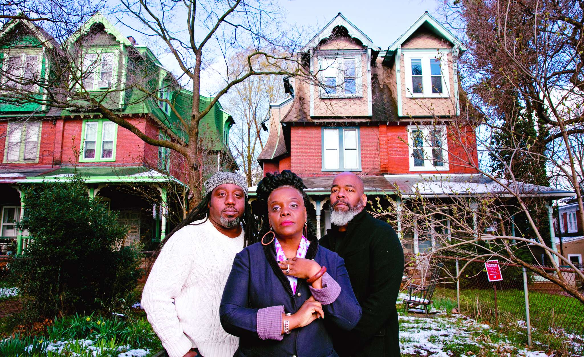 Collaborators (from left) Ian Friday, Vashti Dubois, and Michael Clemmons made Dubois´ vision of the Colored Girls Museum a reality.